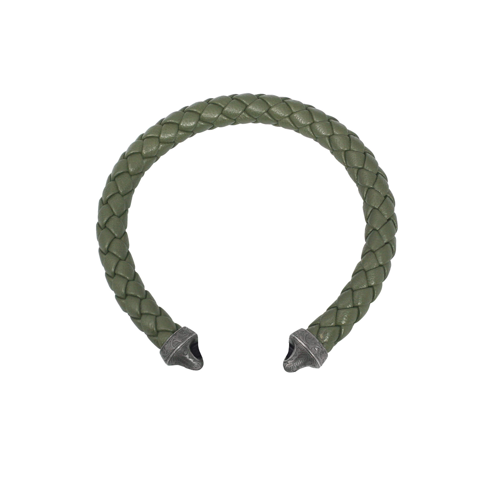 Green Leather Bracelet Strap | England Made Me