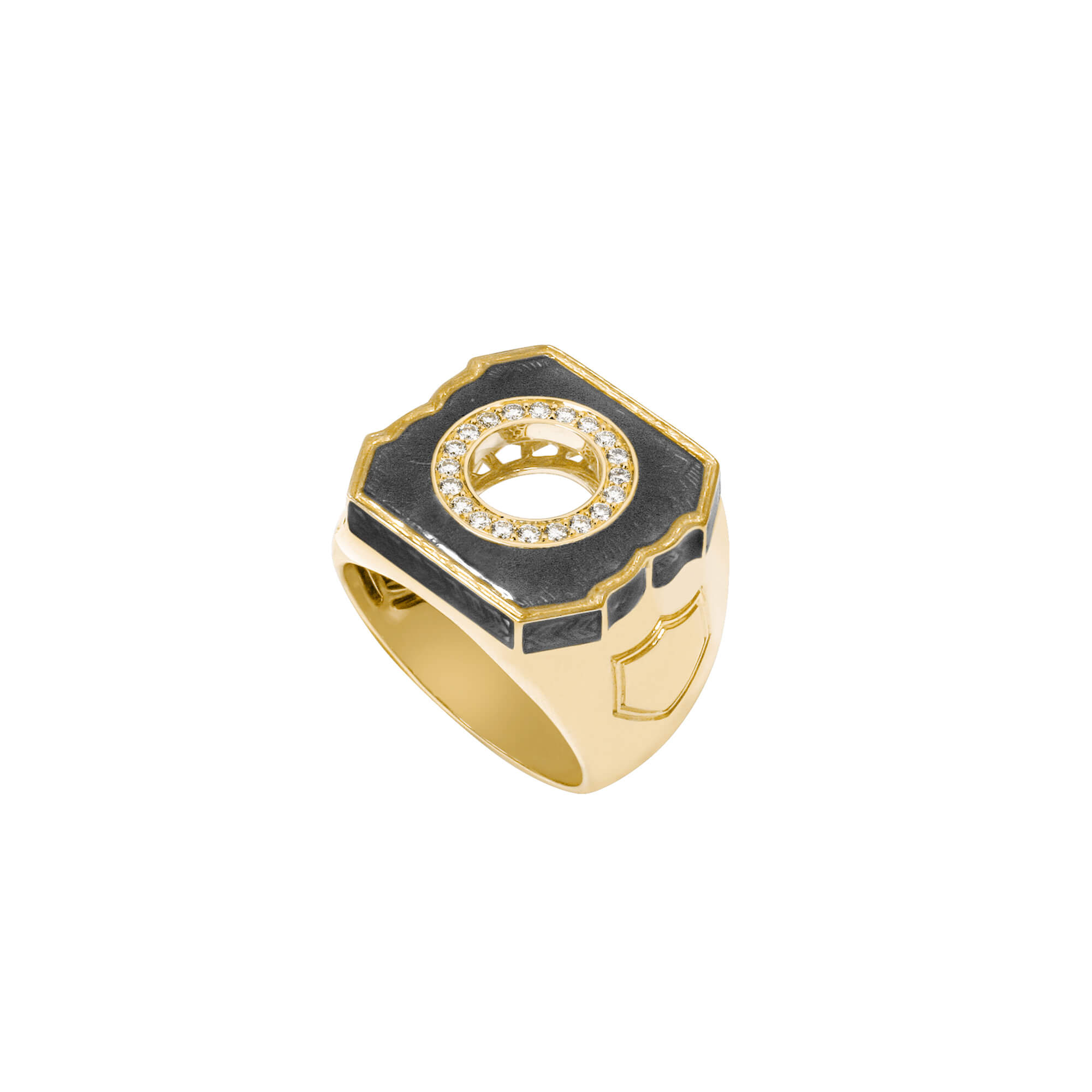 Men's Black and Gold Ring | England Made Me
