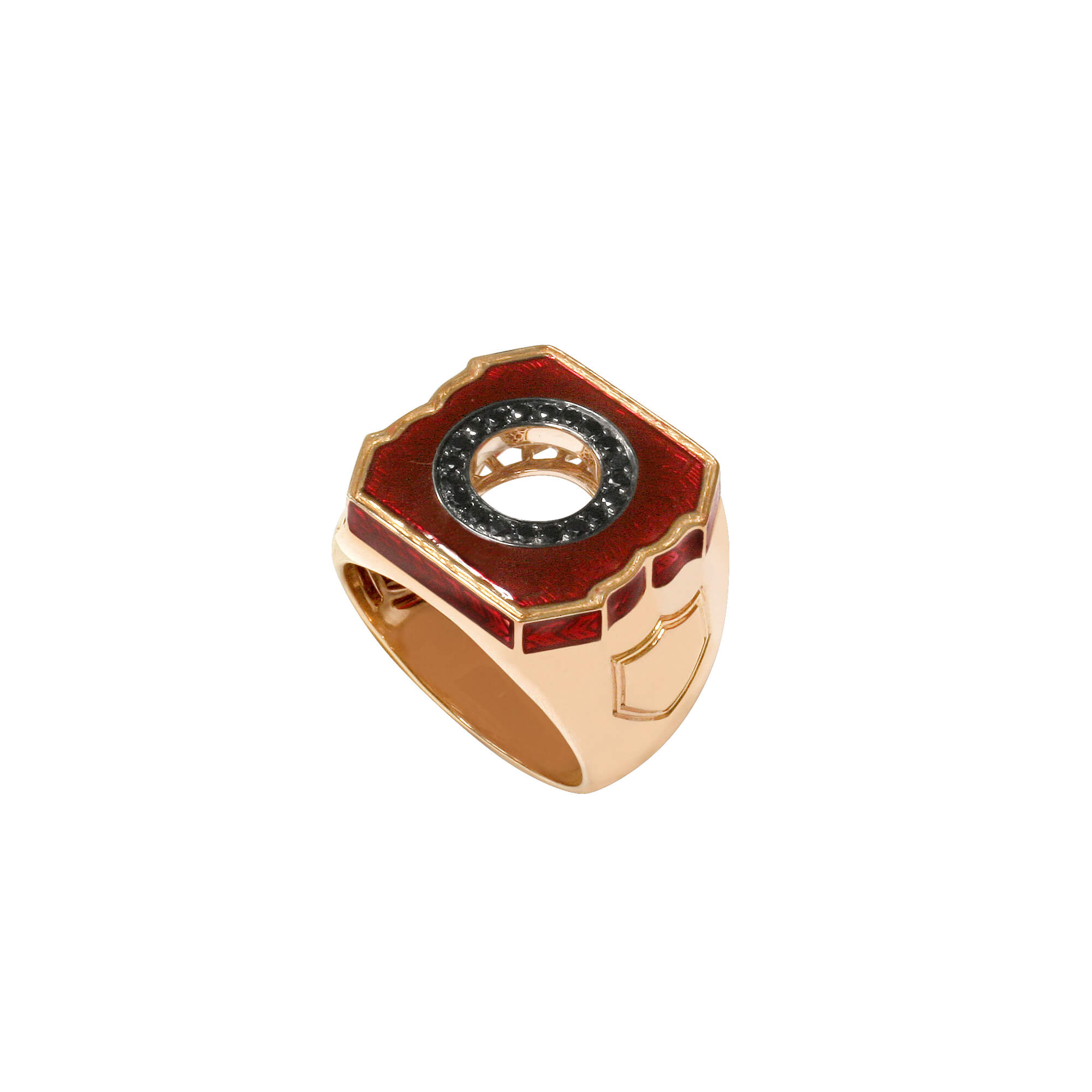 Men's Oxblood and Rose Gold Ring | England Made Me