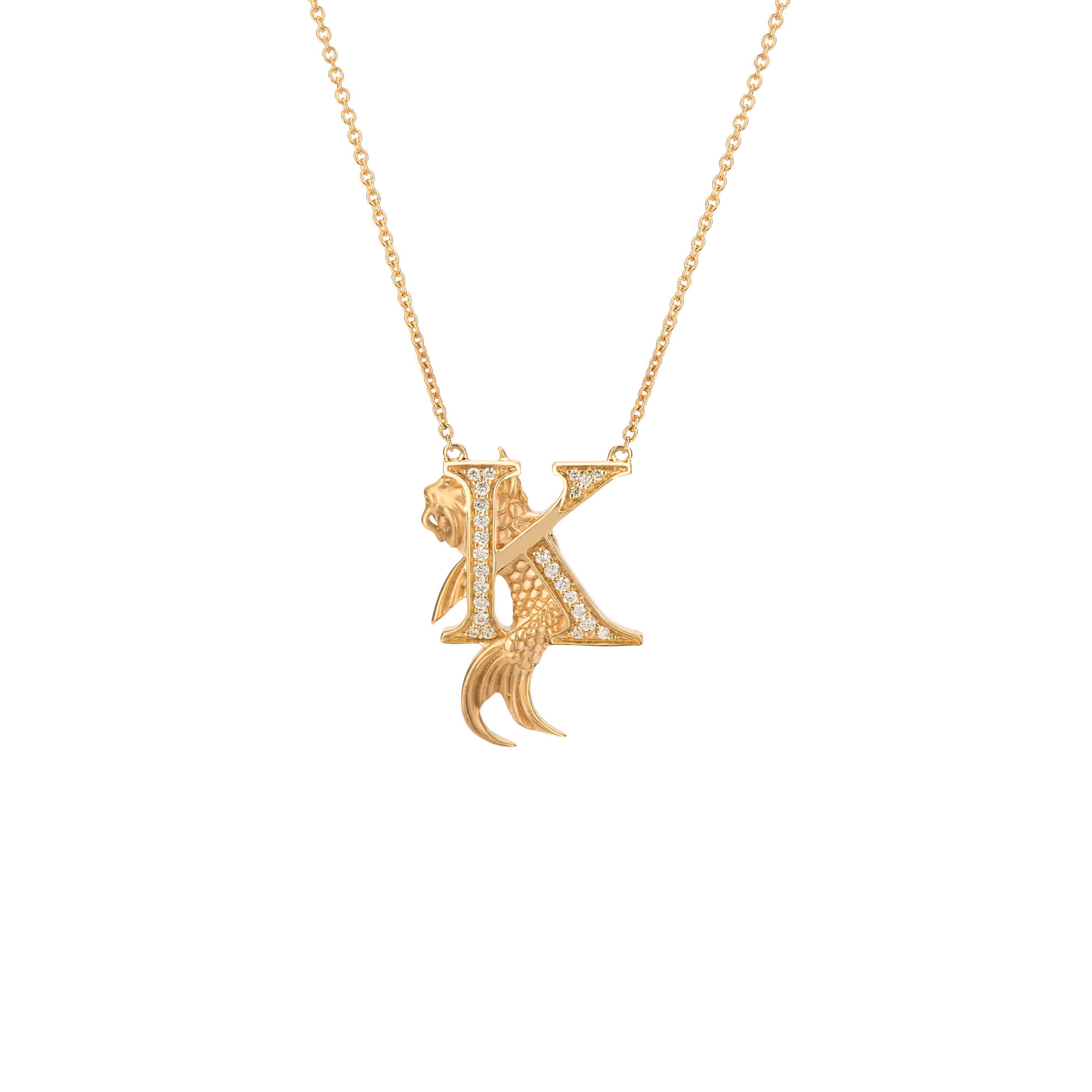 K is for Koi Carp Gold Necklace | Fish Tales
