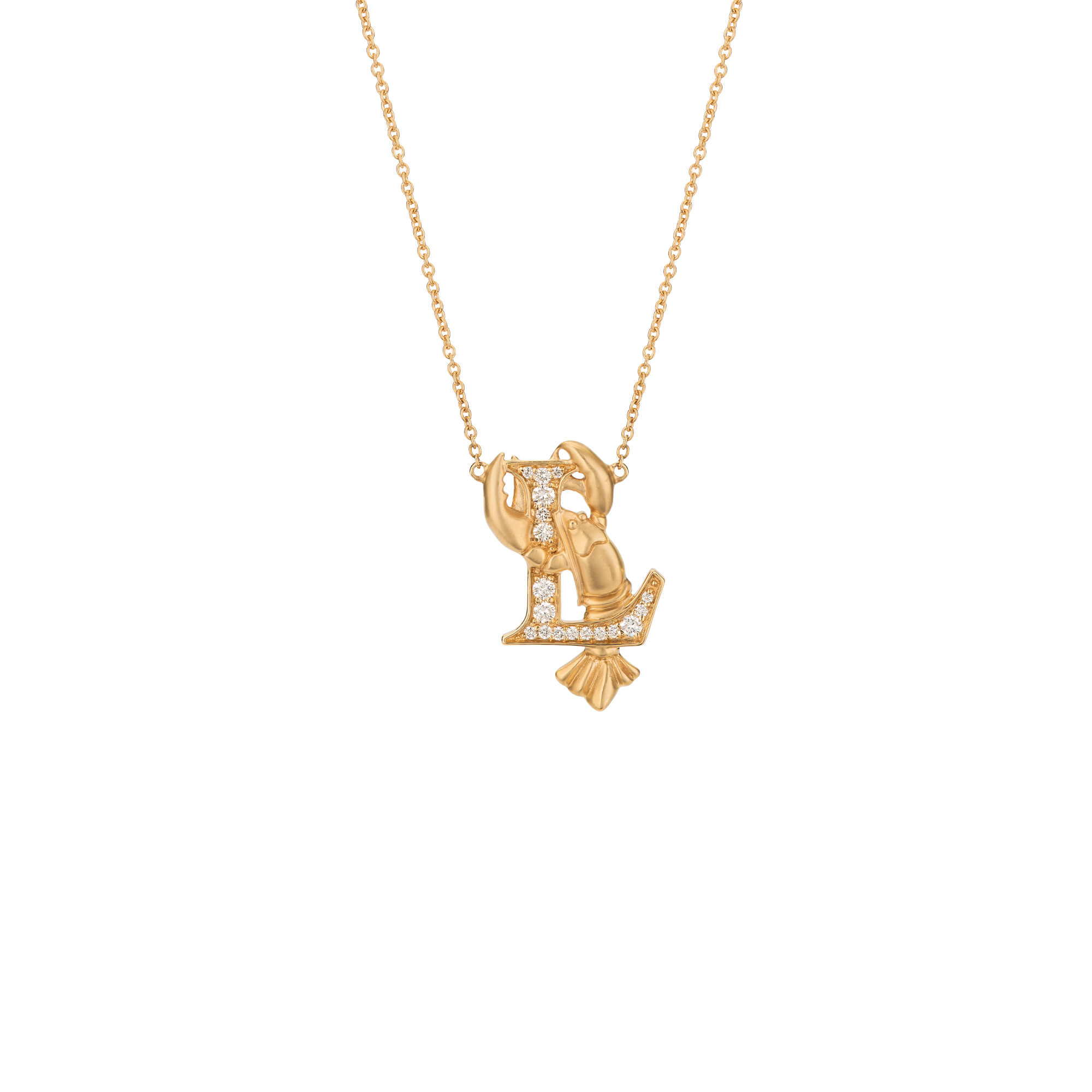 L is for Lobster Gold Necklace | Fish Tales