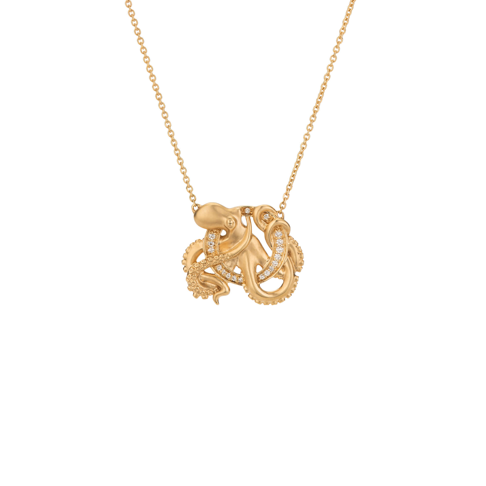 O is for Octopus Gold Necklace | Fish Tales