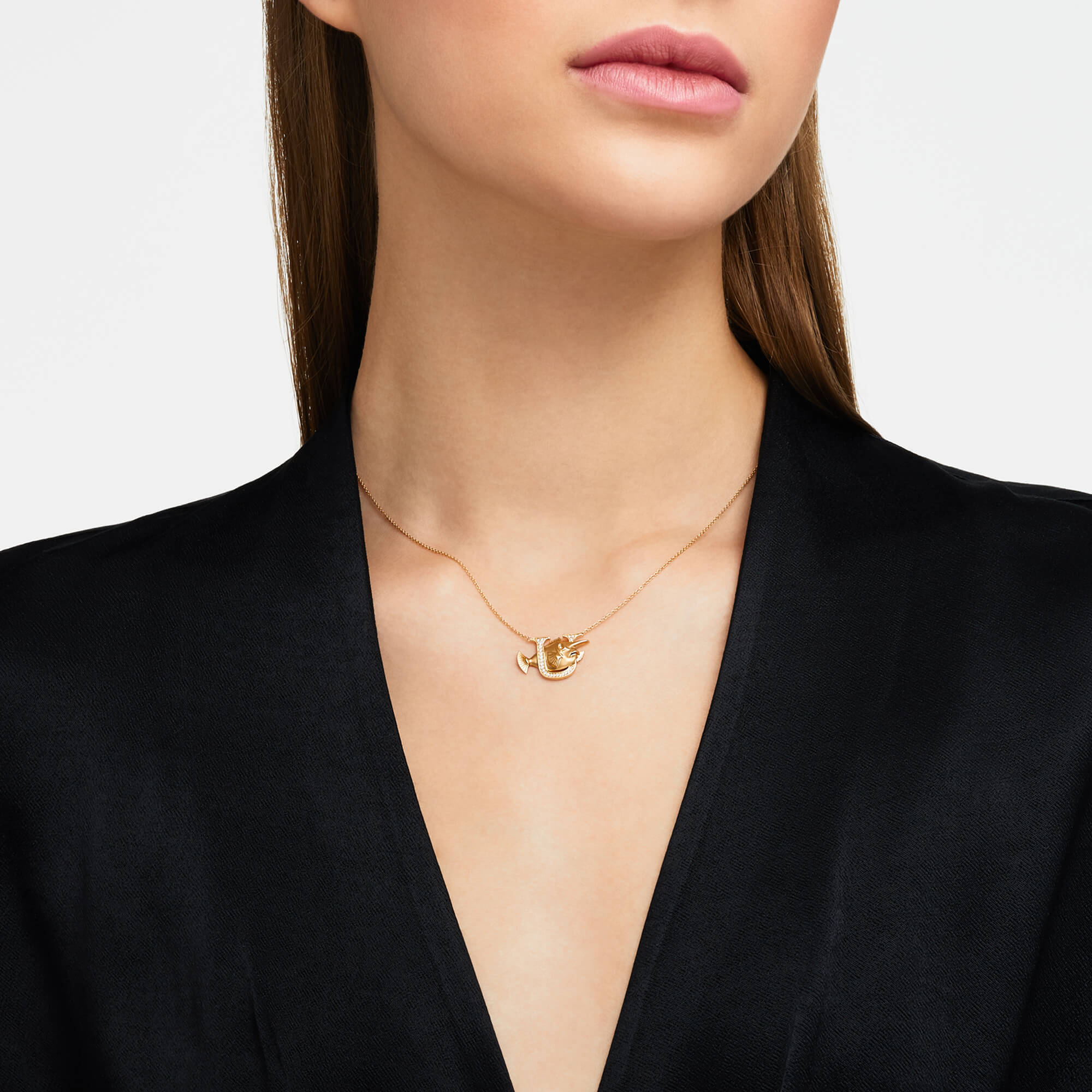 U is for Unicorn Fish Gold Necklace | Fish Tales