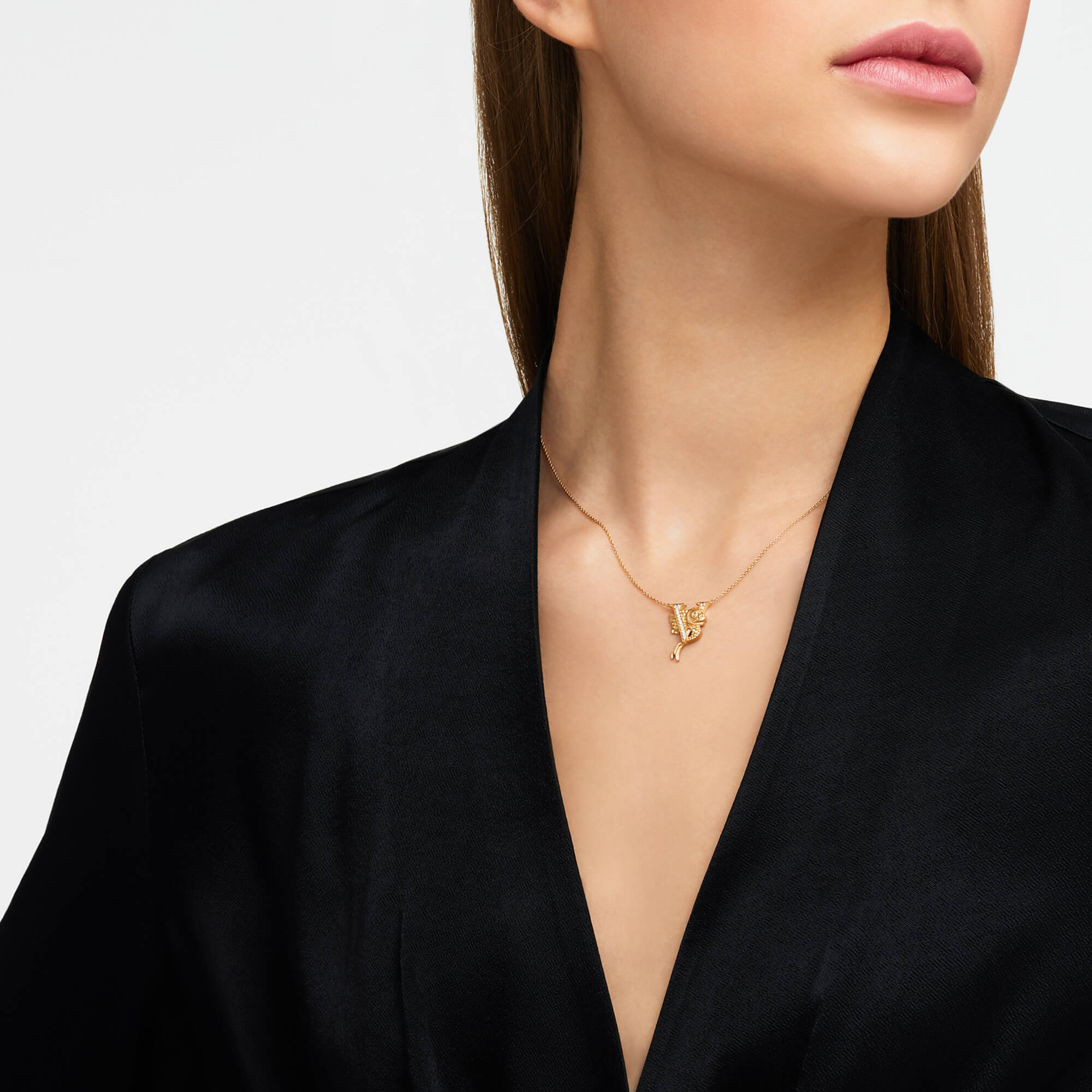 V is for Viper Fish Gold Necklace | Fish Tales
