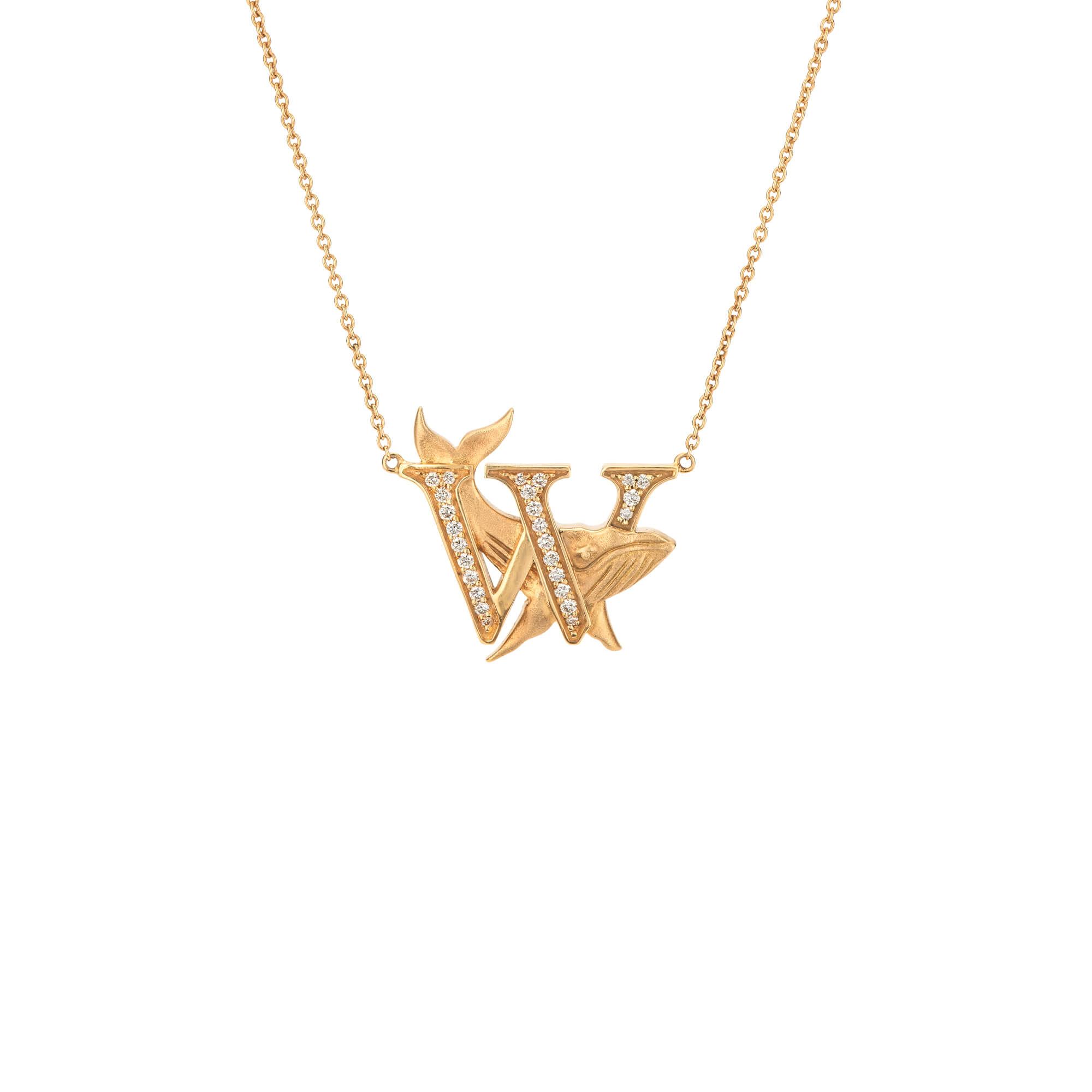 W is for Whale Gold Necklace | Fish Tales