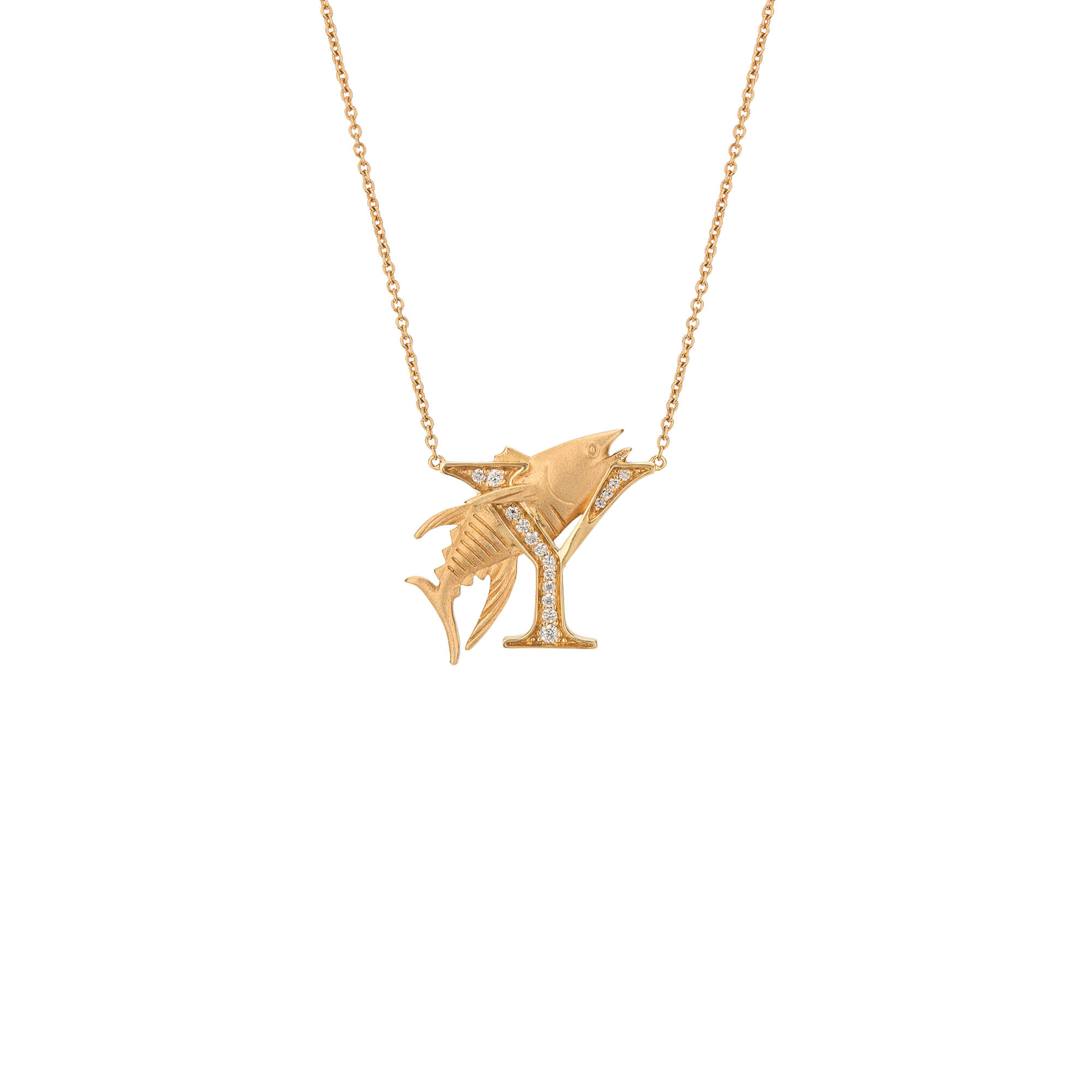Y is for Yellowfin Tuna Gold Necklace | Fish Tales