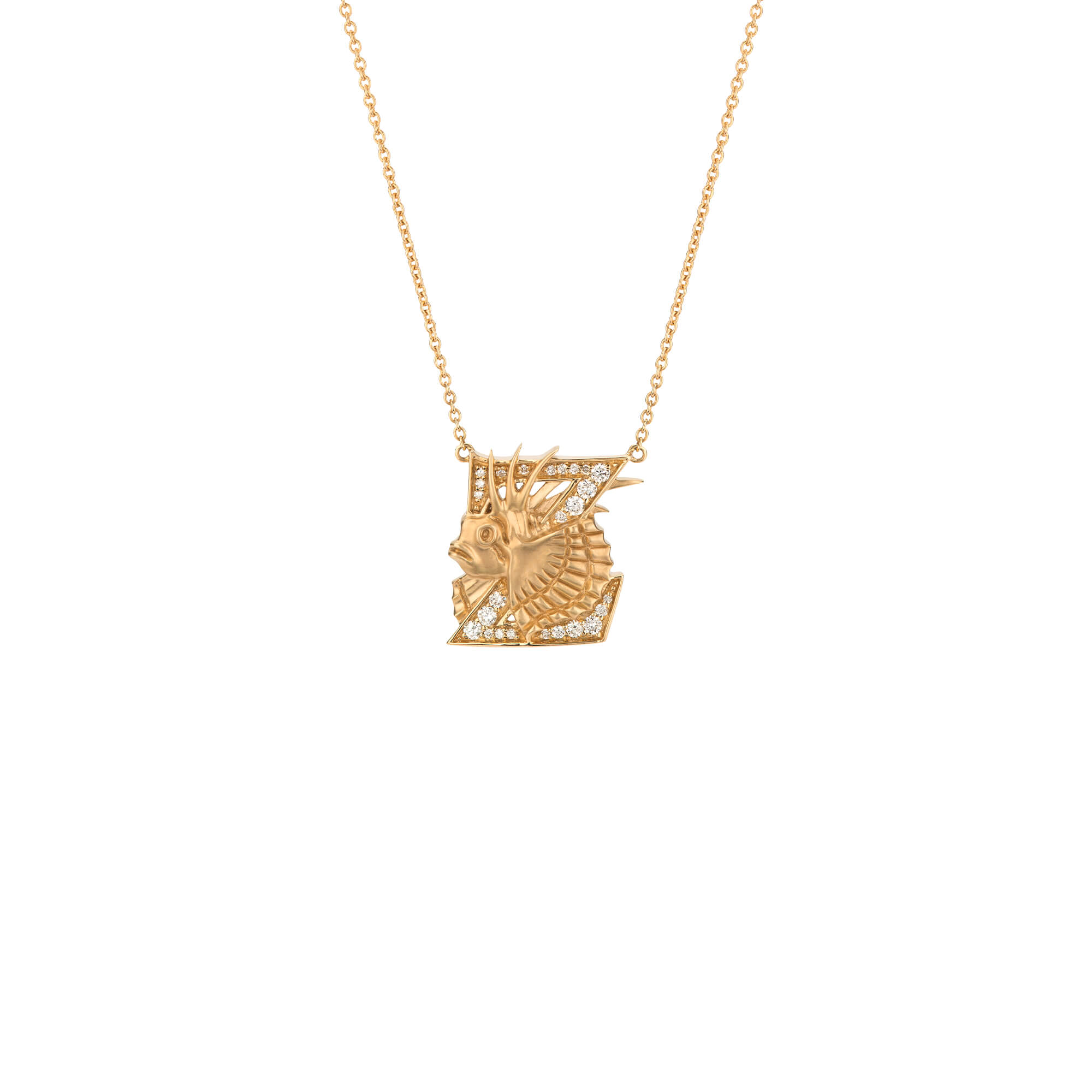 Z is for Zebra Turkey Fish Gold Necklace | Fish Tales