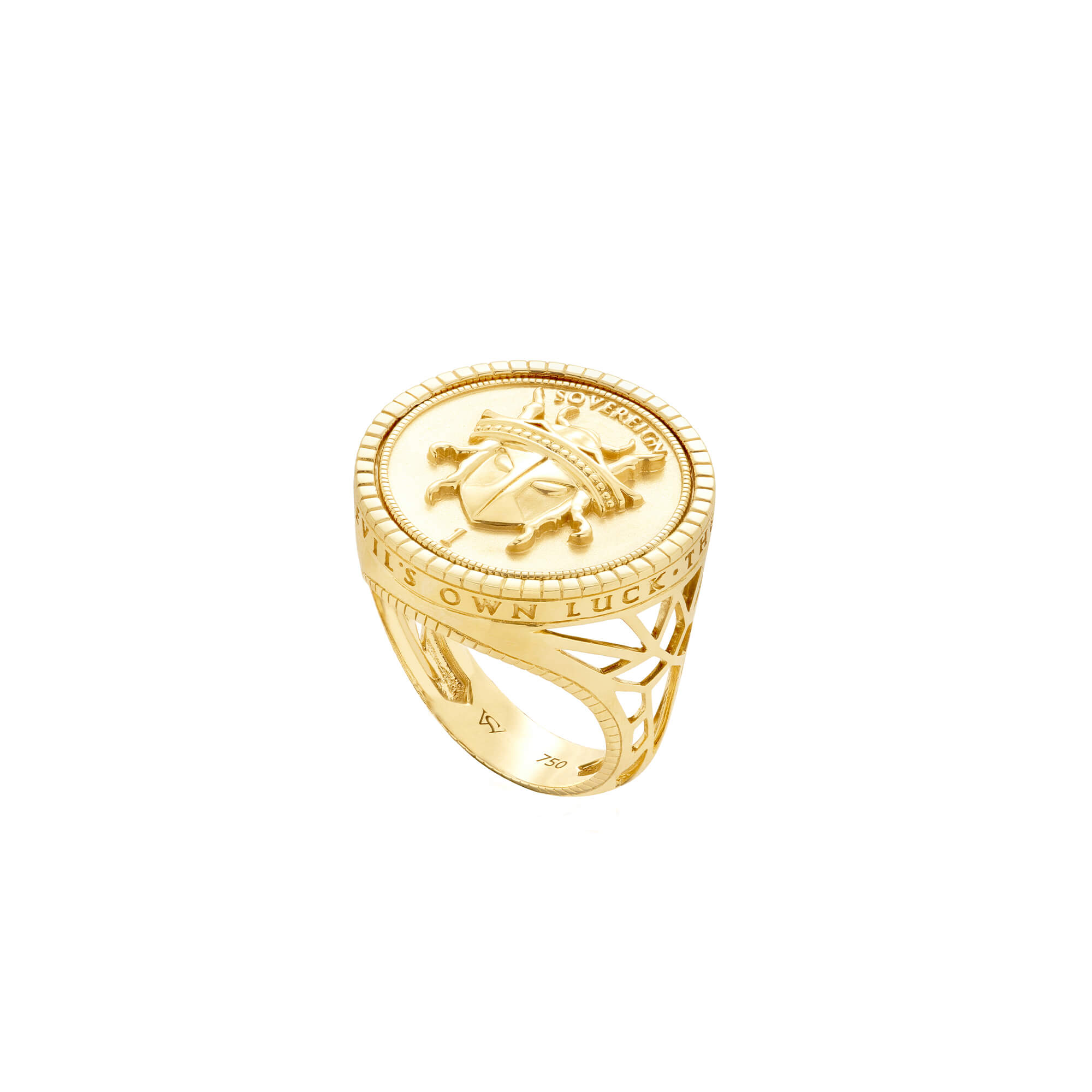 Flipside Initial Yellow Gold Ring | Mens | Stephen Webster