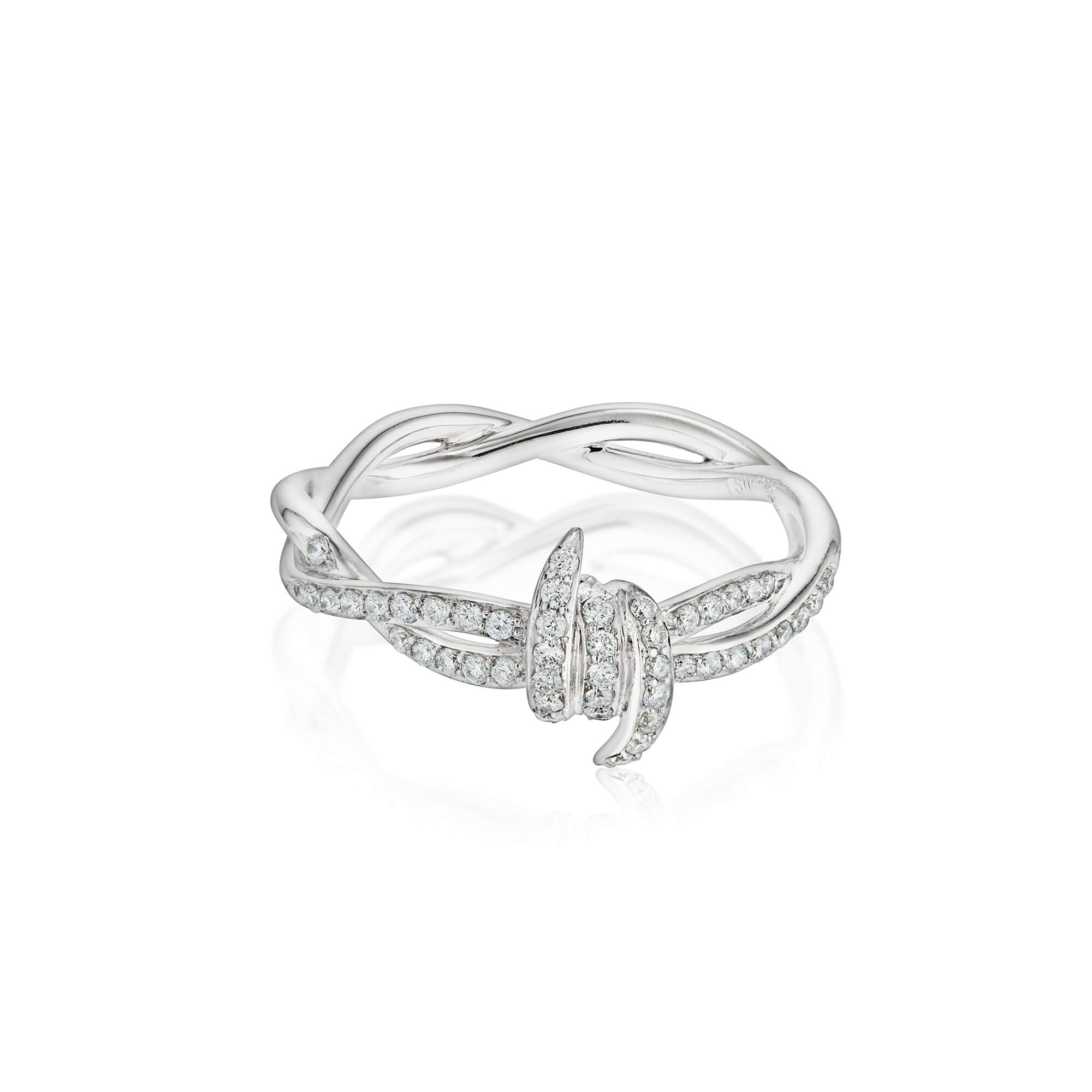 Forget Me Knot White Diamond Stack Ring | No Regrets Chapel