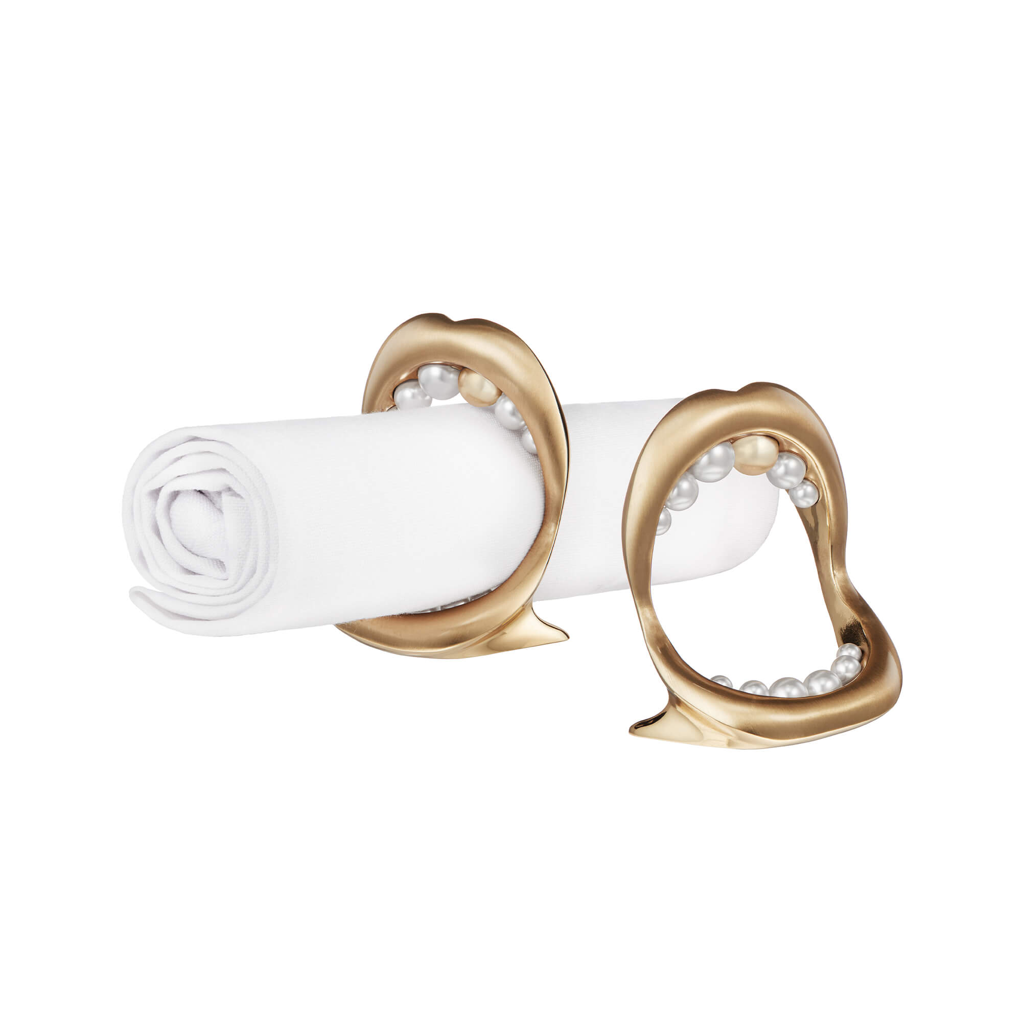 Gluttony Napkin Ring with Gold Pearl | Stephen Webster