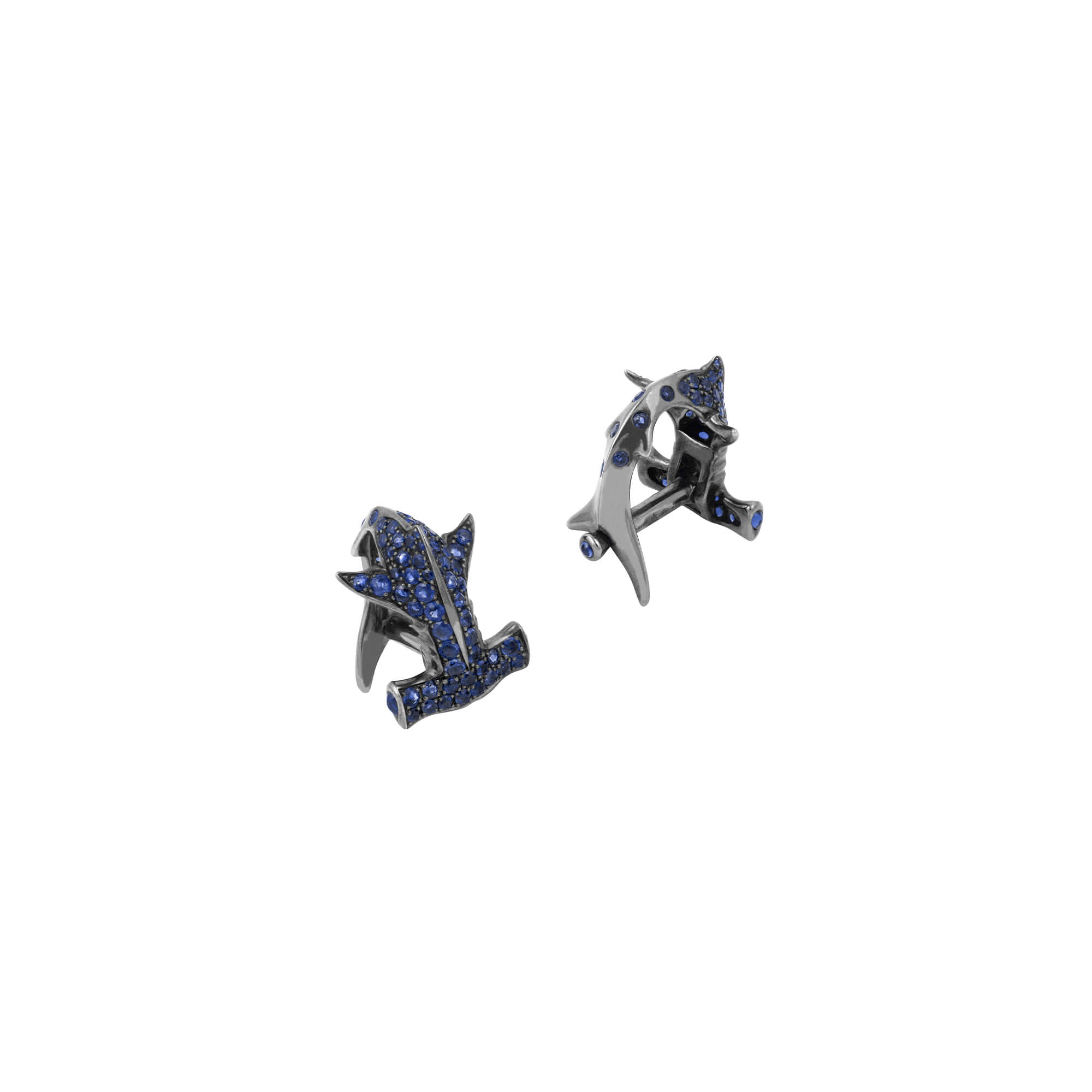 Men's Silver Hammerhead Cufflinks | Stephen Webster