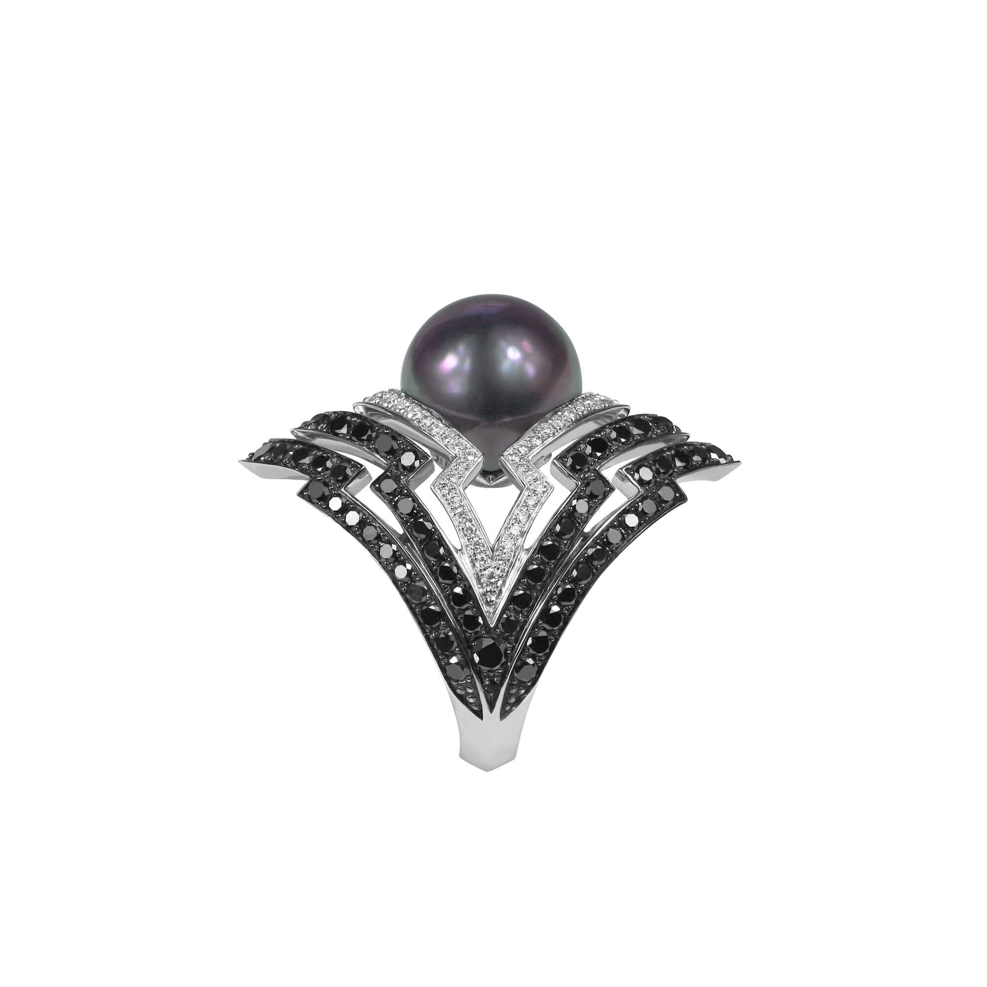 White Gold Pearl Ring With Taithian Pearl | Lady Stardust