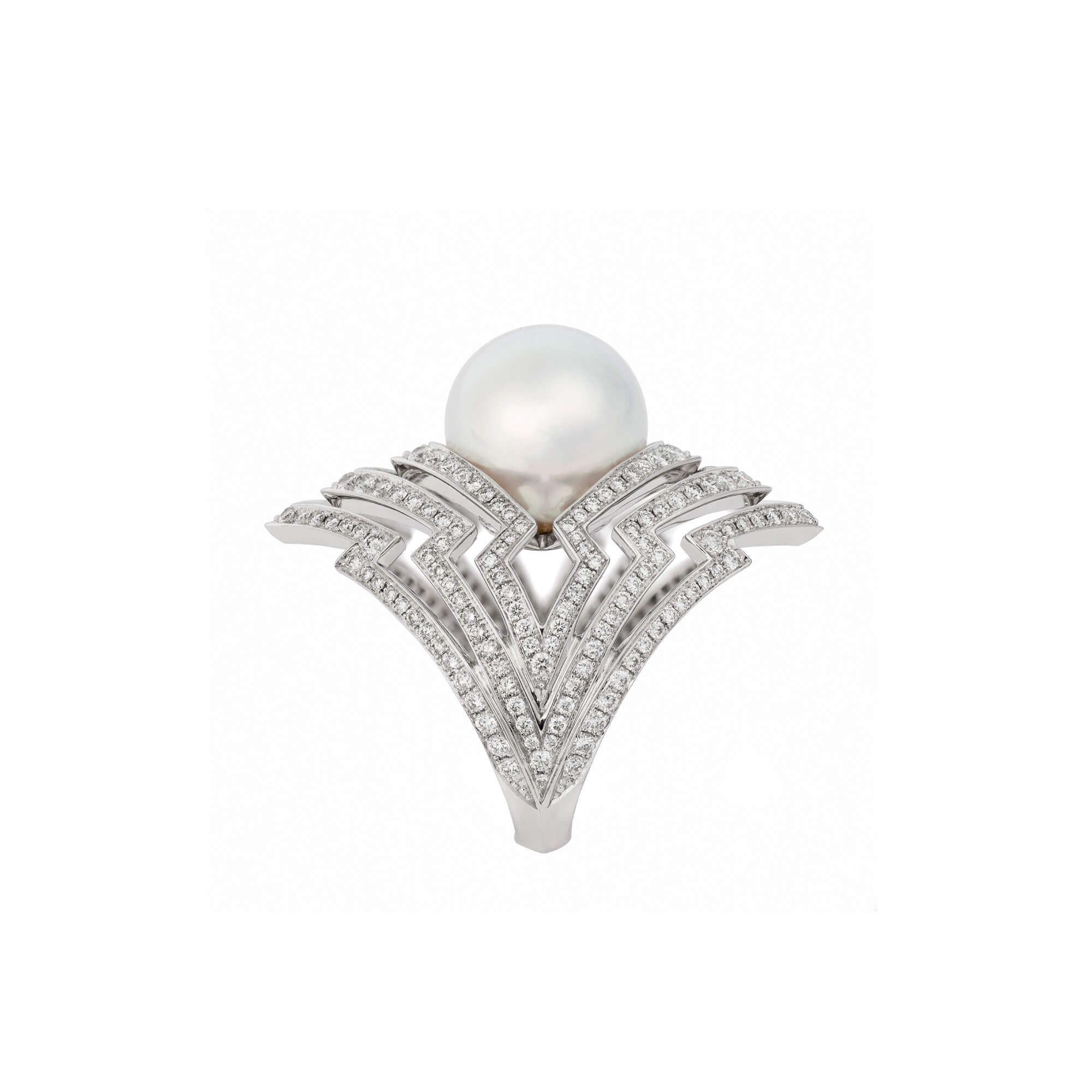 White Gold Pearl Ring With White Pearl | Lady Stardust