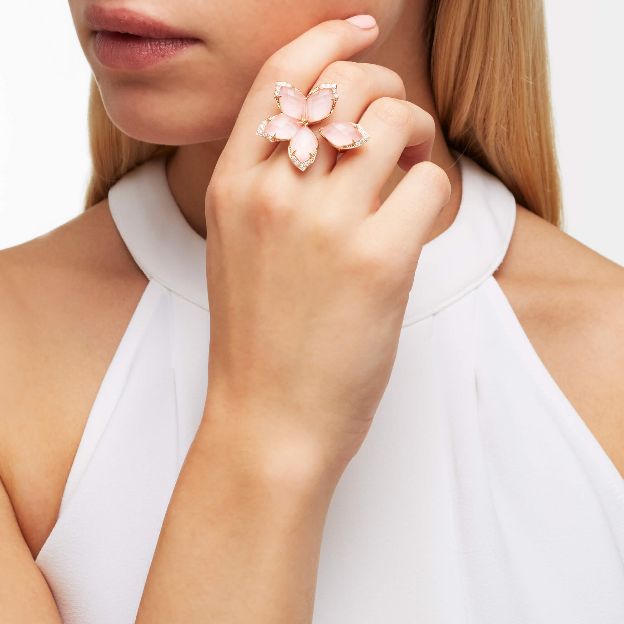 Large Rose Gold Ring | Love Me, Love Me Not
