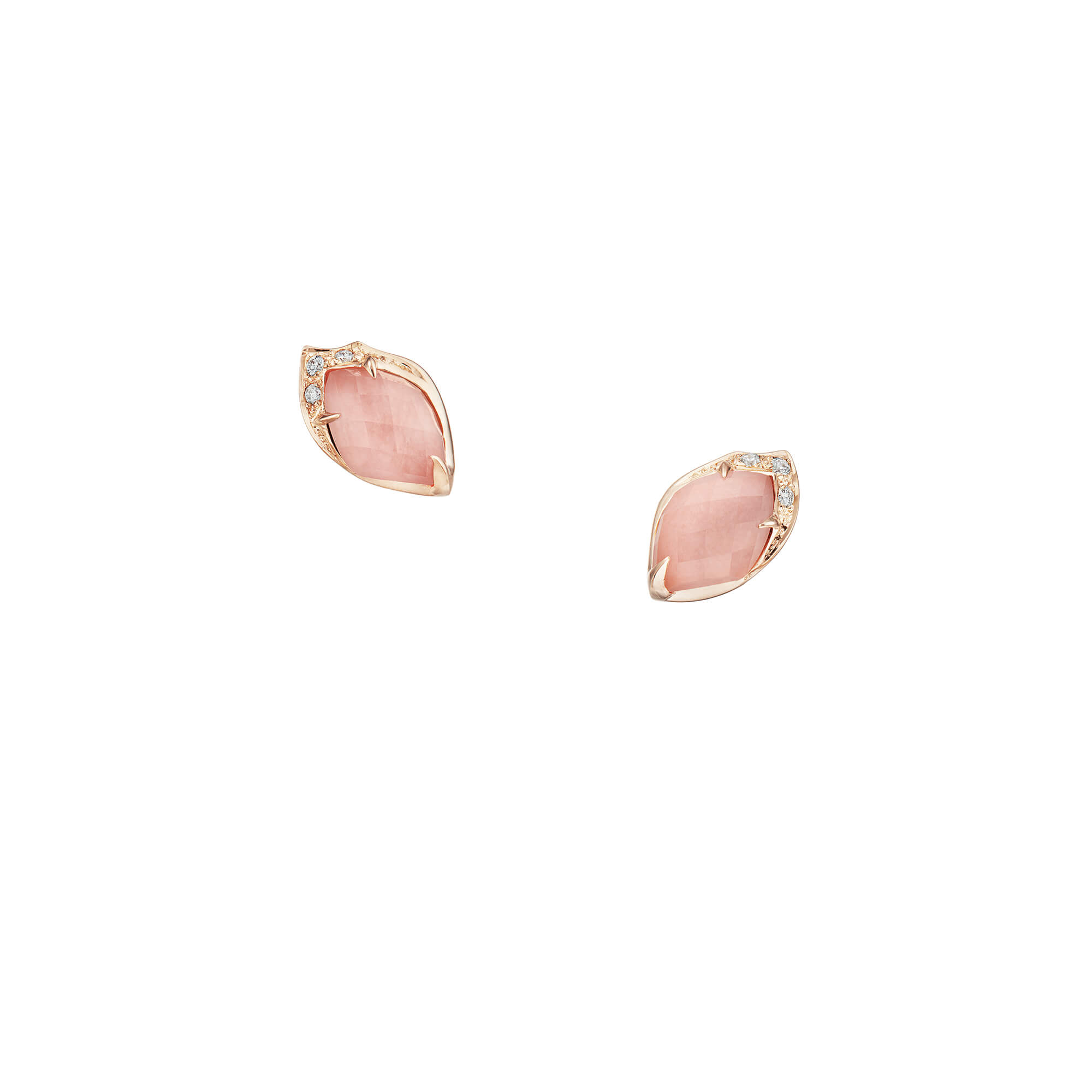 Pink Opal Crystal Haze Studs | Love Me, Love Me Not