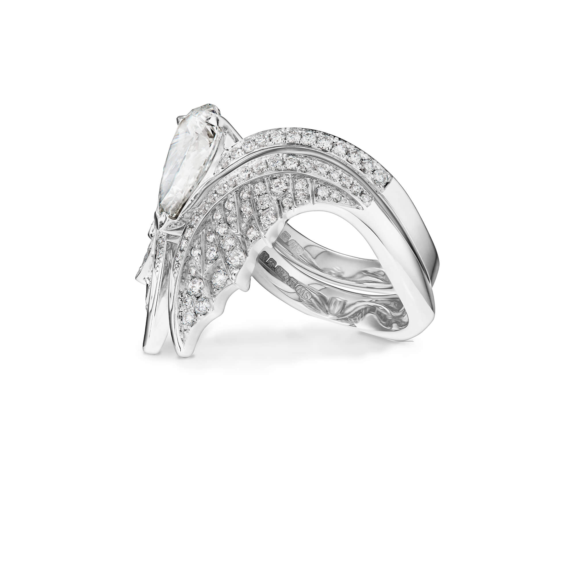 Magnipheasant White Gold Nesting Ring - Image 2 | No Regrets Chapel