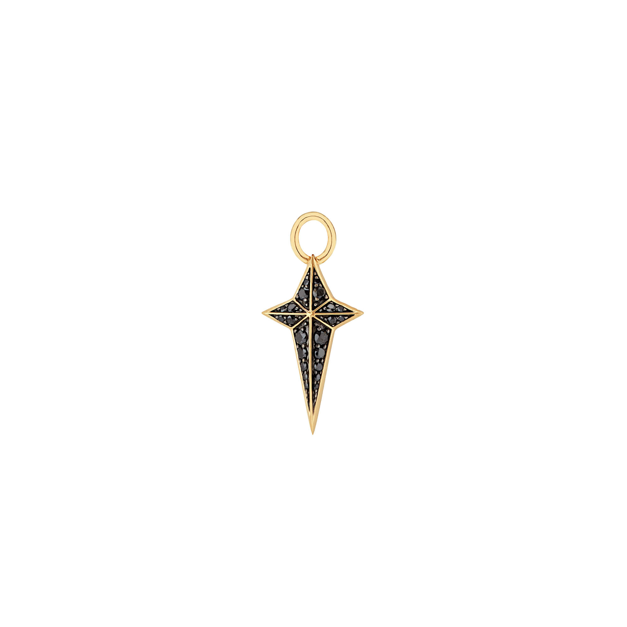 New Cross Black Diamond Charm | Mens | Stephen Webster