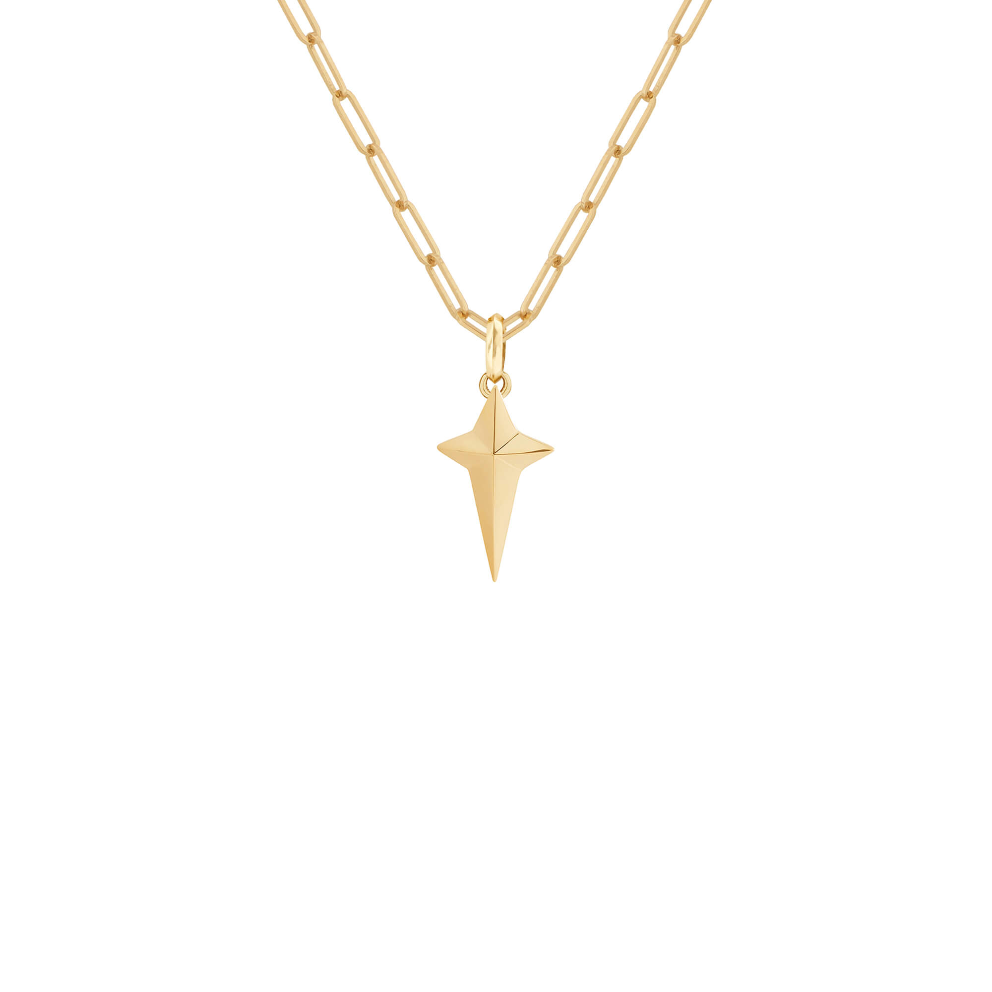 New Cross Yellow Gold Pendant | Mens | Stephen Webster