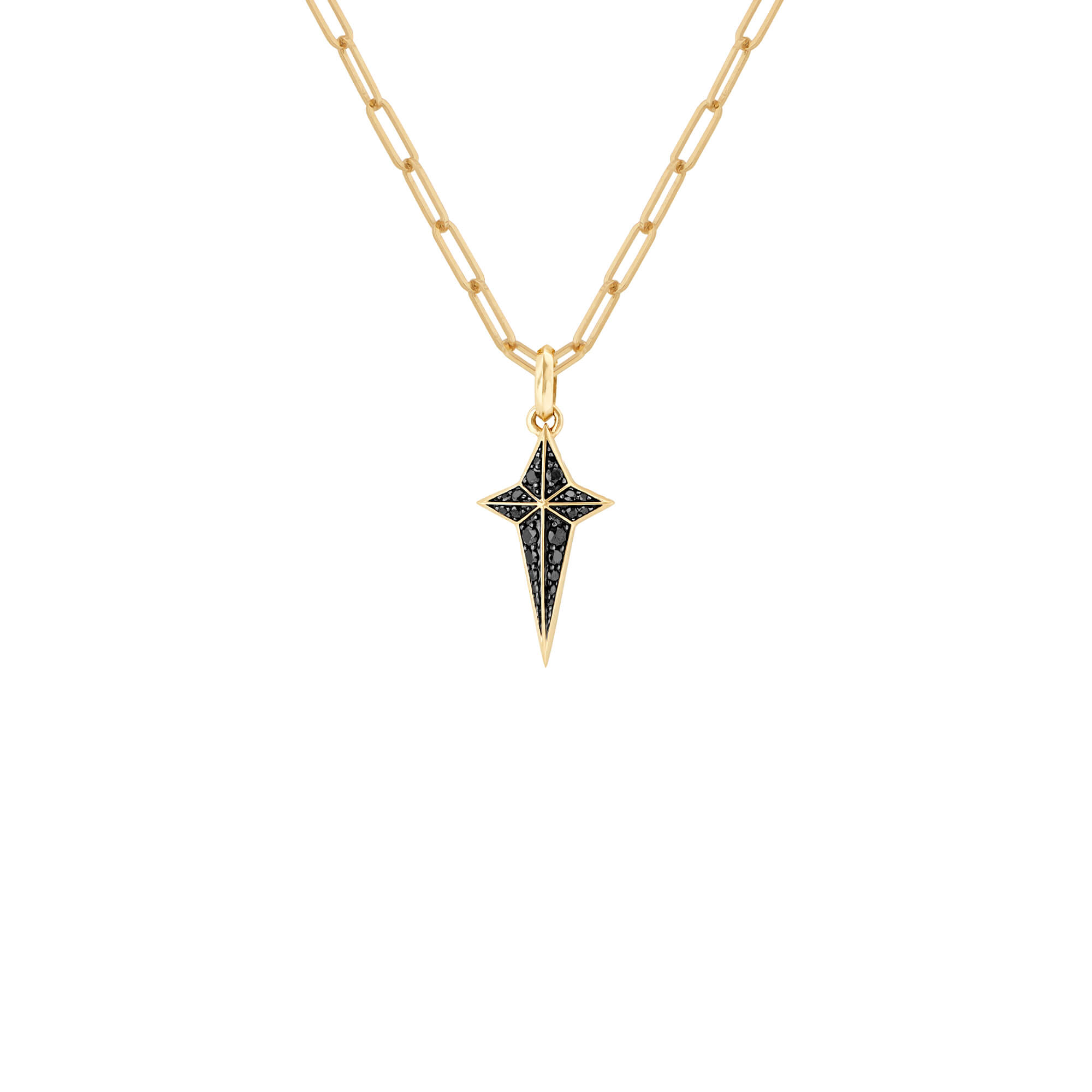 New Cross Black Diamond Pendant | Mens | Stephen Webster