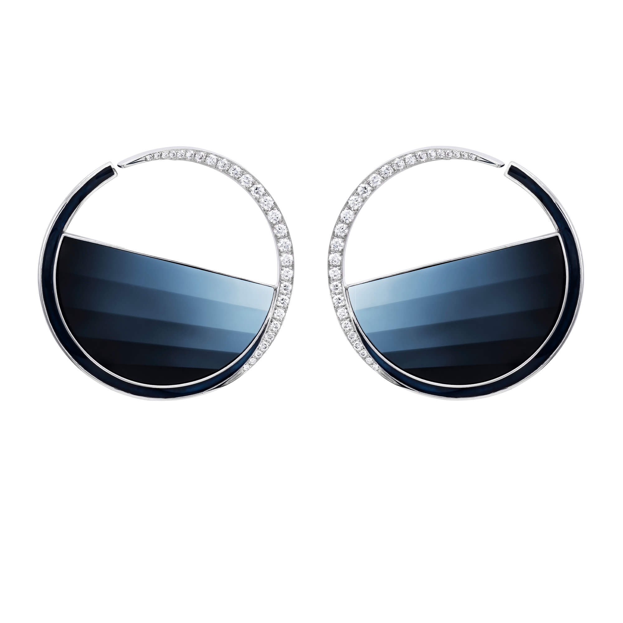 Vertigo Cameo Hoop Monochrome Agate Earrings | No Regrets