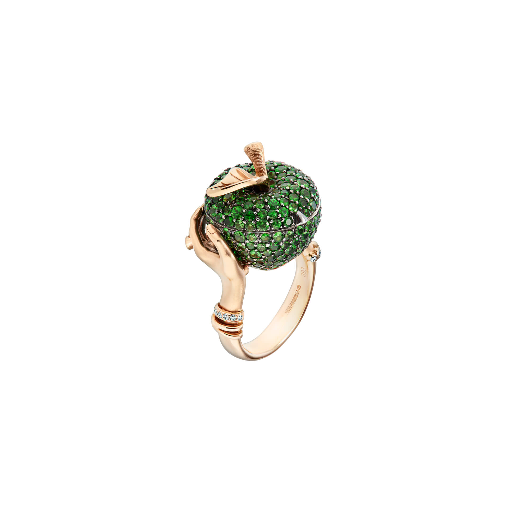Poison Apple Tsavorite Pavé Gold Large Ring | No Regrets