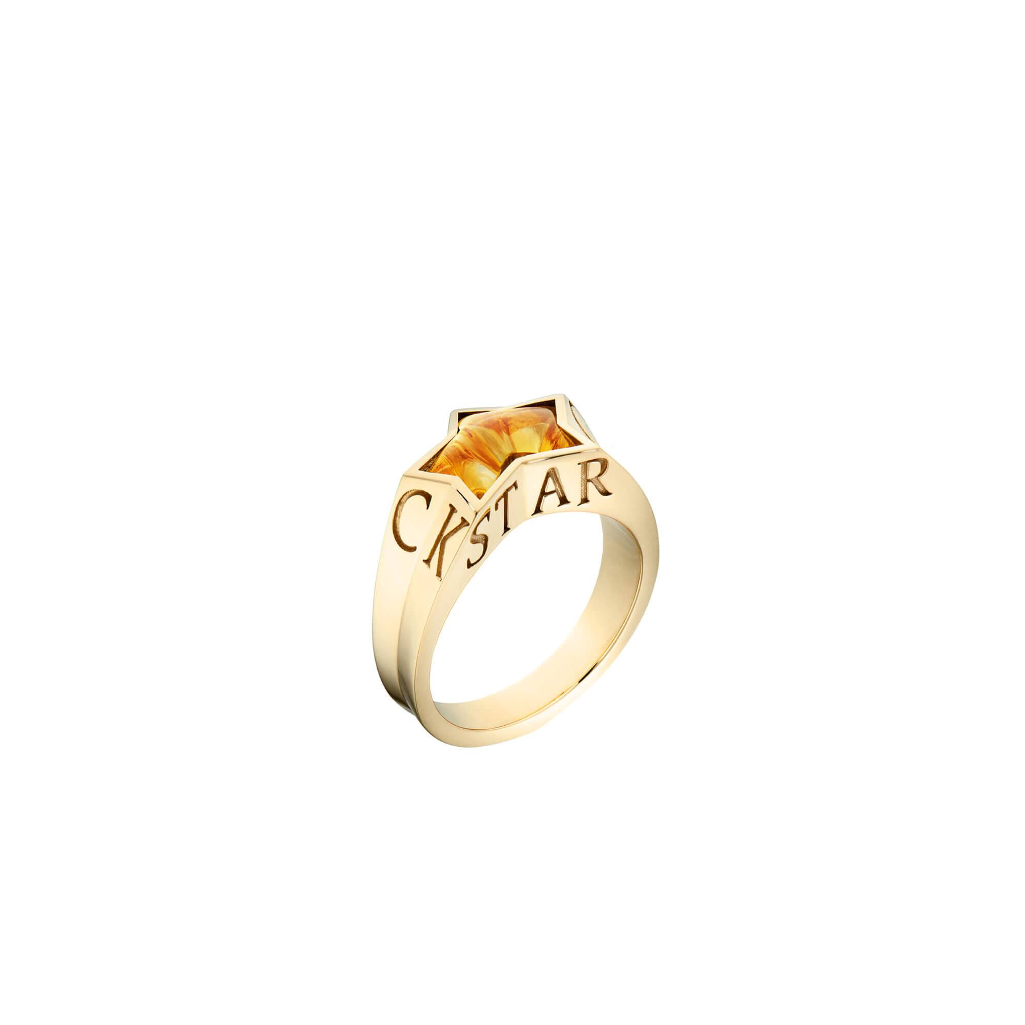 Rockstar Citrine Pinky Ring | No Regrets
