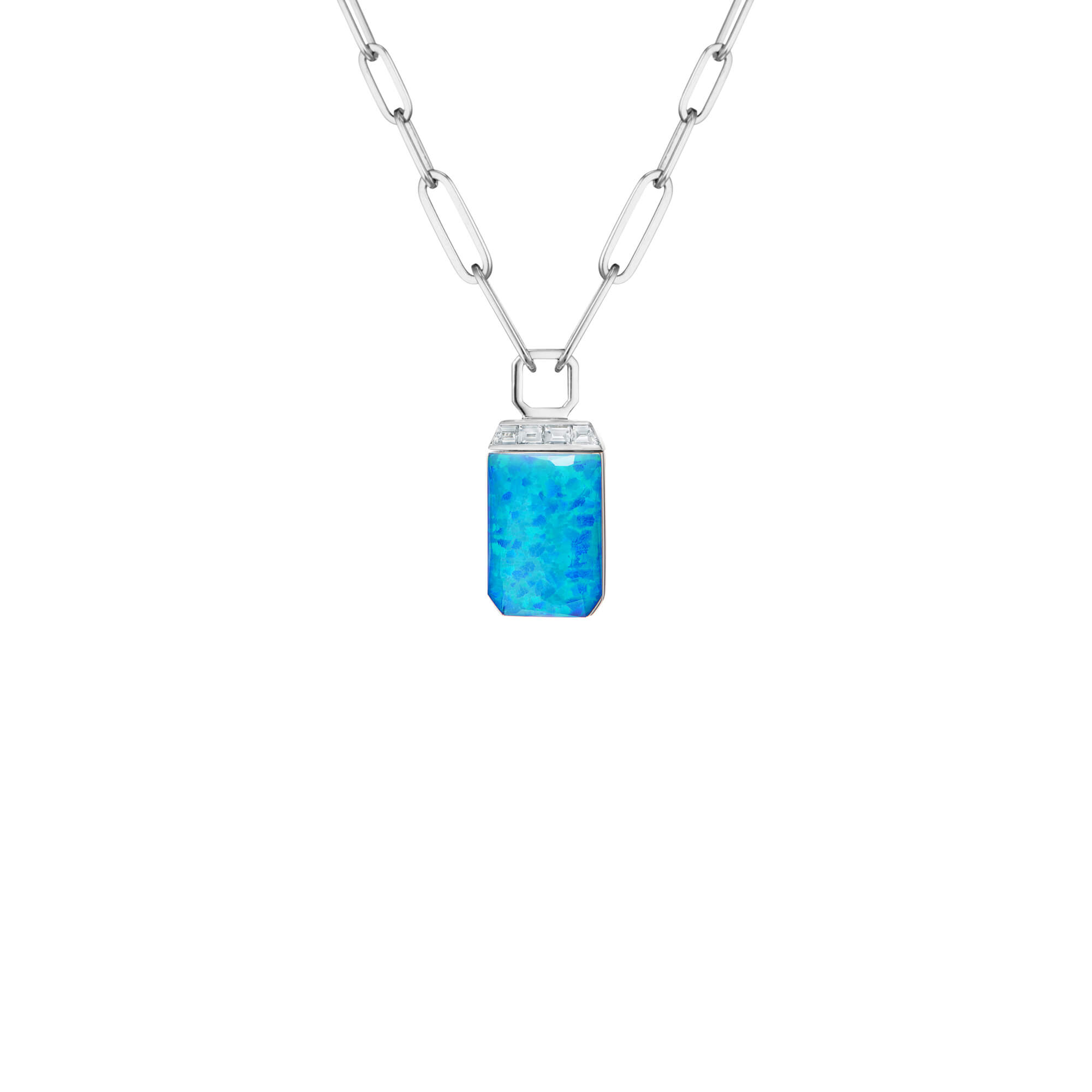 Crystal Haze and Diamonds Tablet Twister Pendant | CH₂