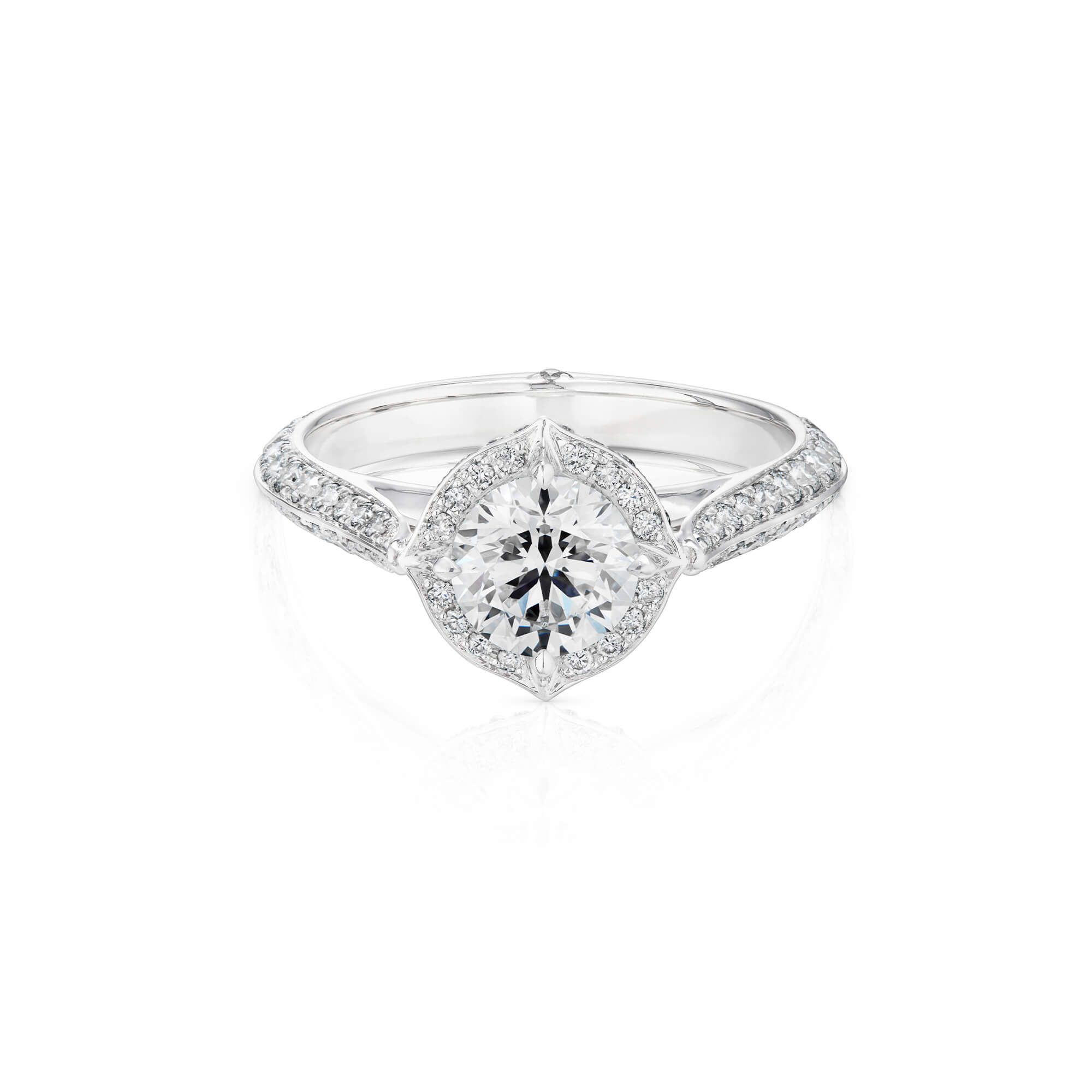 Thorn Classic Halo Gold and Diamond Ring | No Regrets Chapel