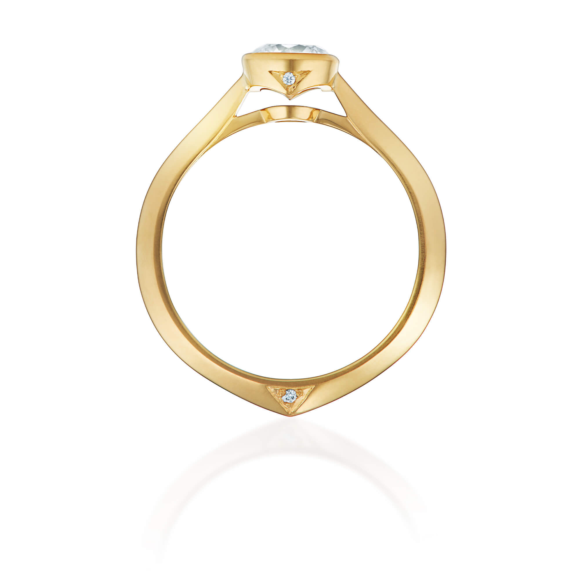 Thorn Yellow Gold Classic Solitaire Ring - Image 1 | No Regrets Chapel