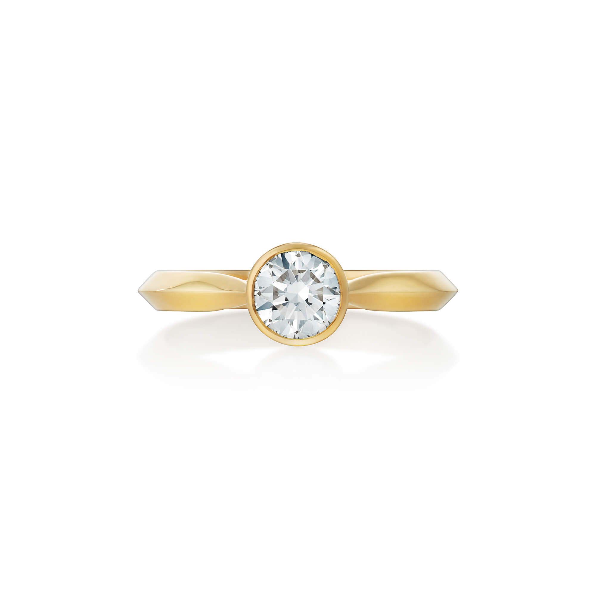 Thorn Yellow Gold Classic Solitaire Ring | No Regrets Chapel