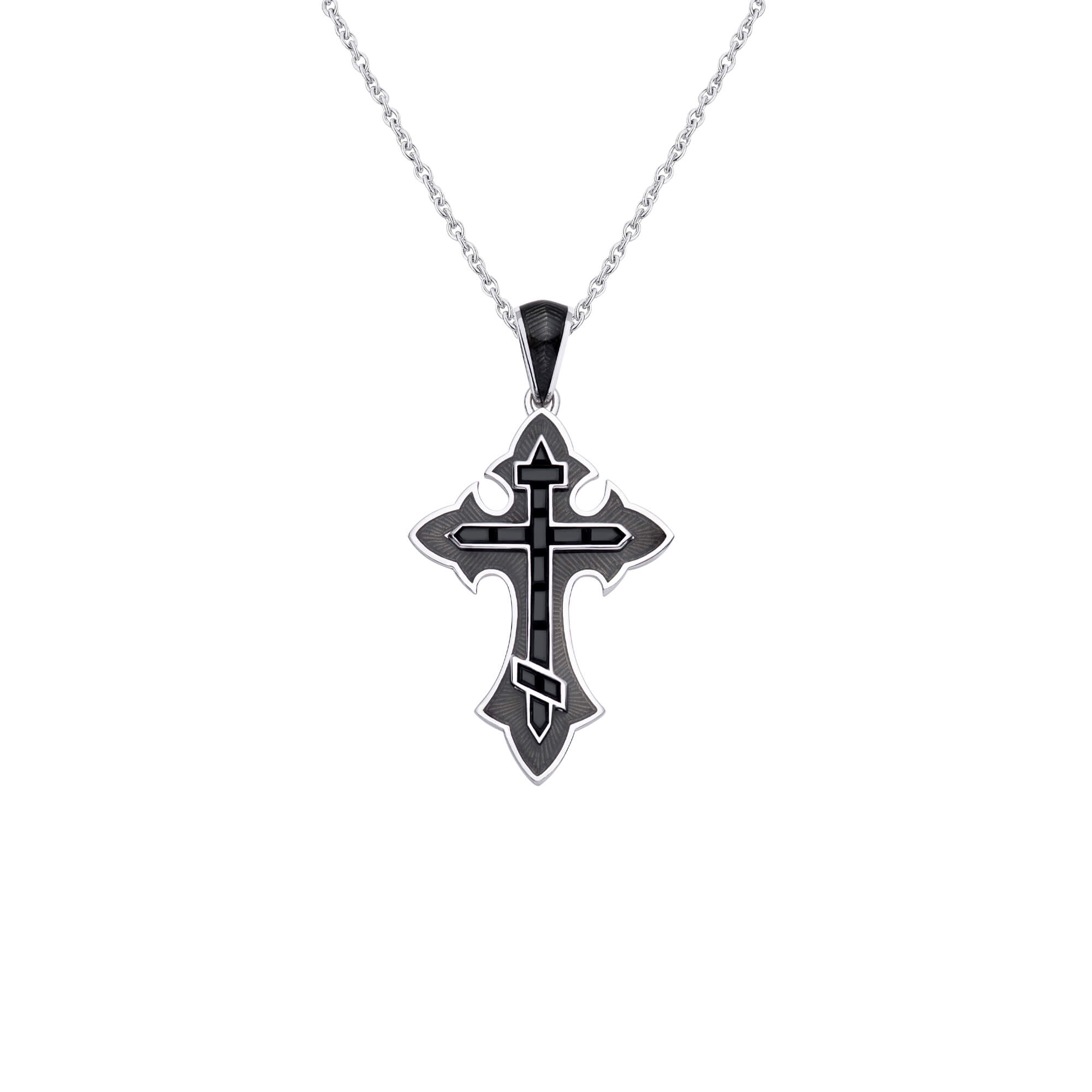 Thorn Enamel Cross Pendant | Mens | Stephen Webster