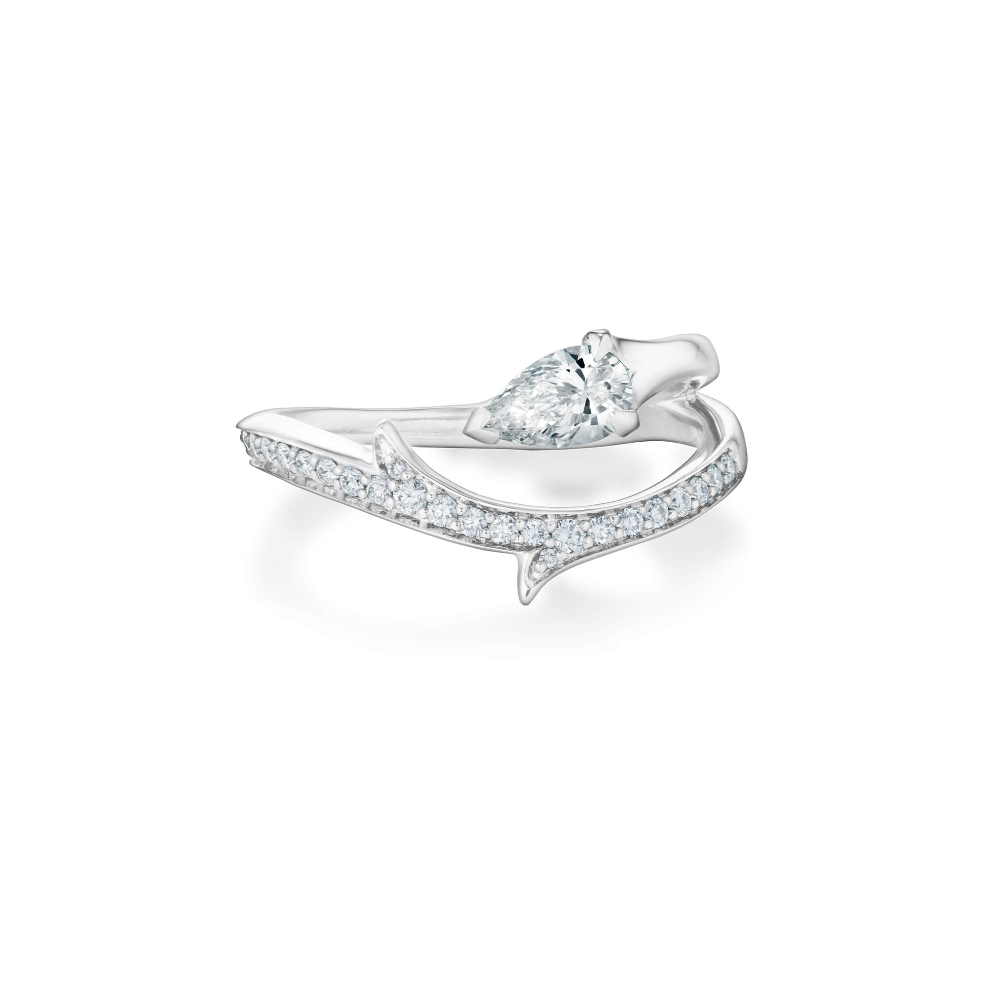 Floating Solitaire White Gold Ring | No Regrets Chapel