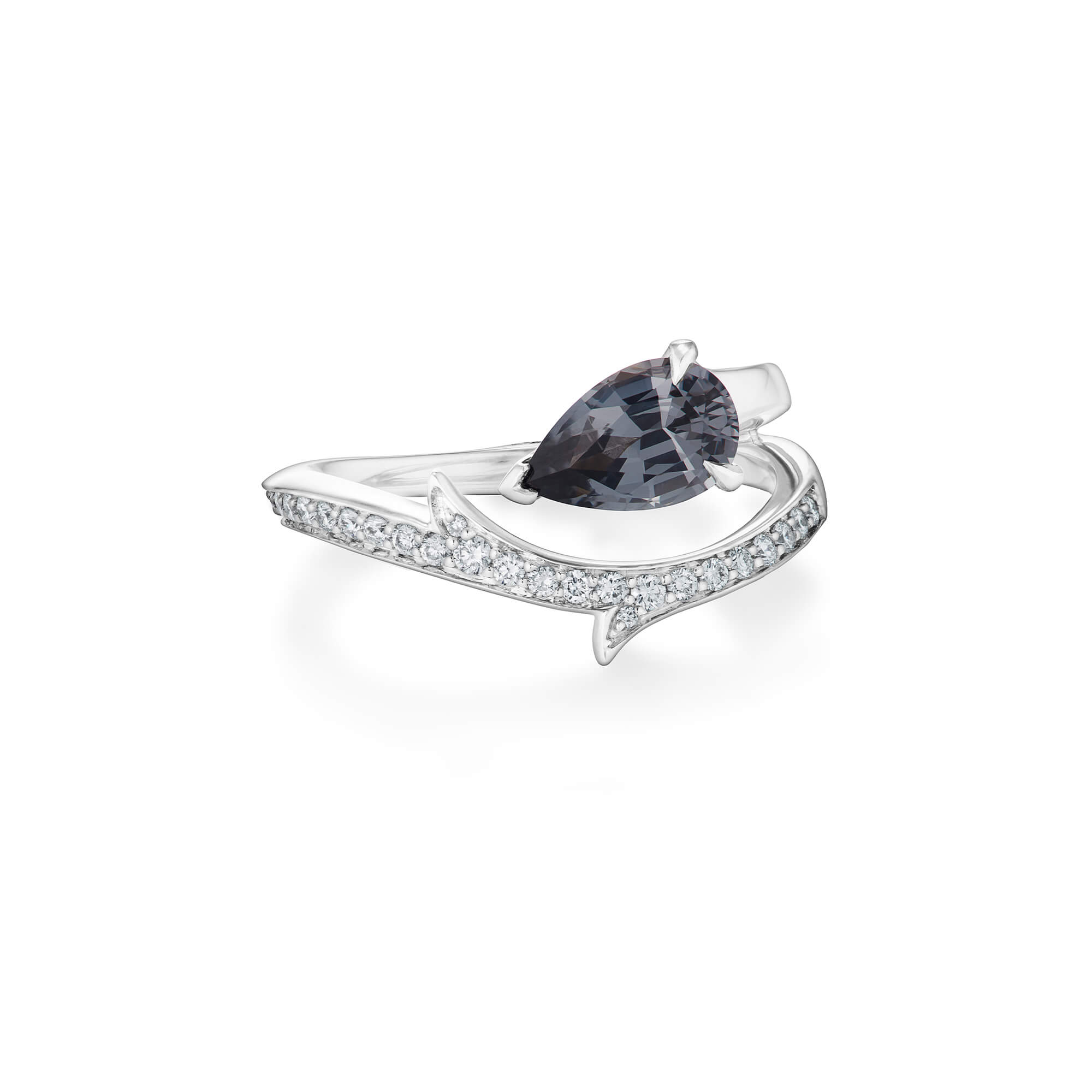 Floating Spinel Solitaire Gold Ring | No Regrets Chapel