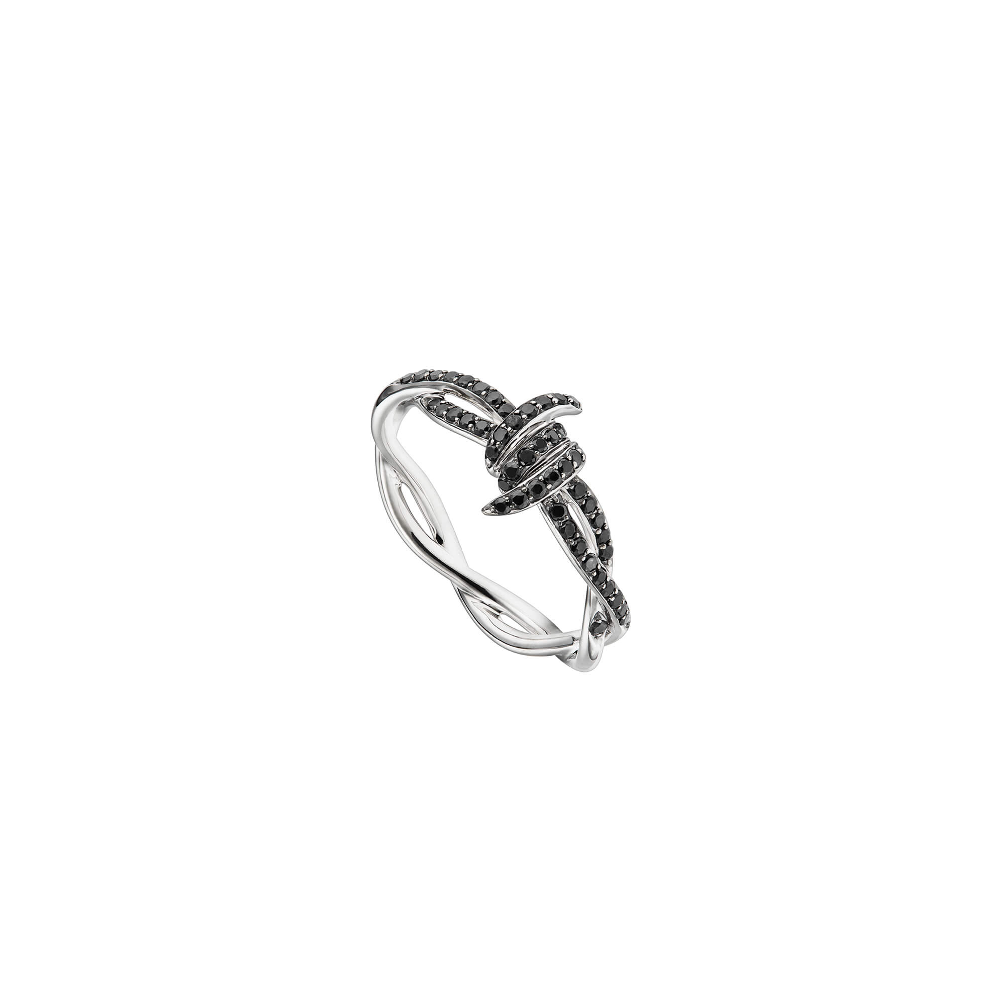 Forget Me Knot Black Diamond Ring | Thorn