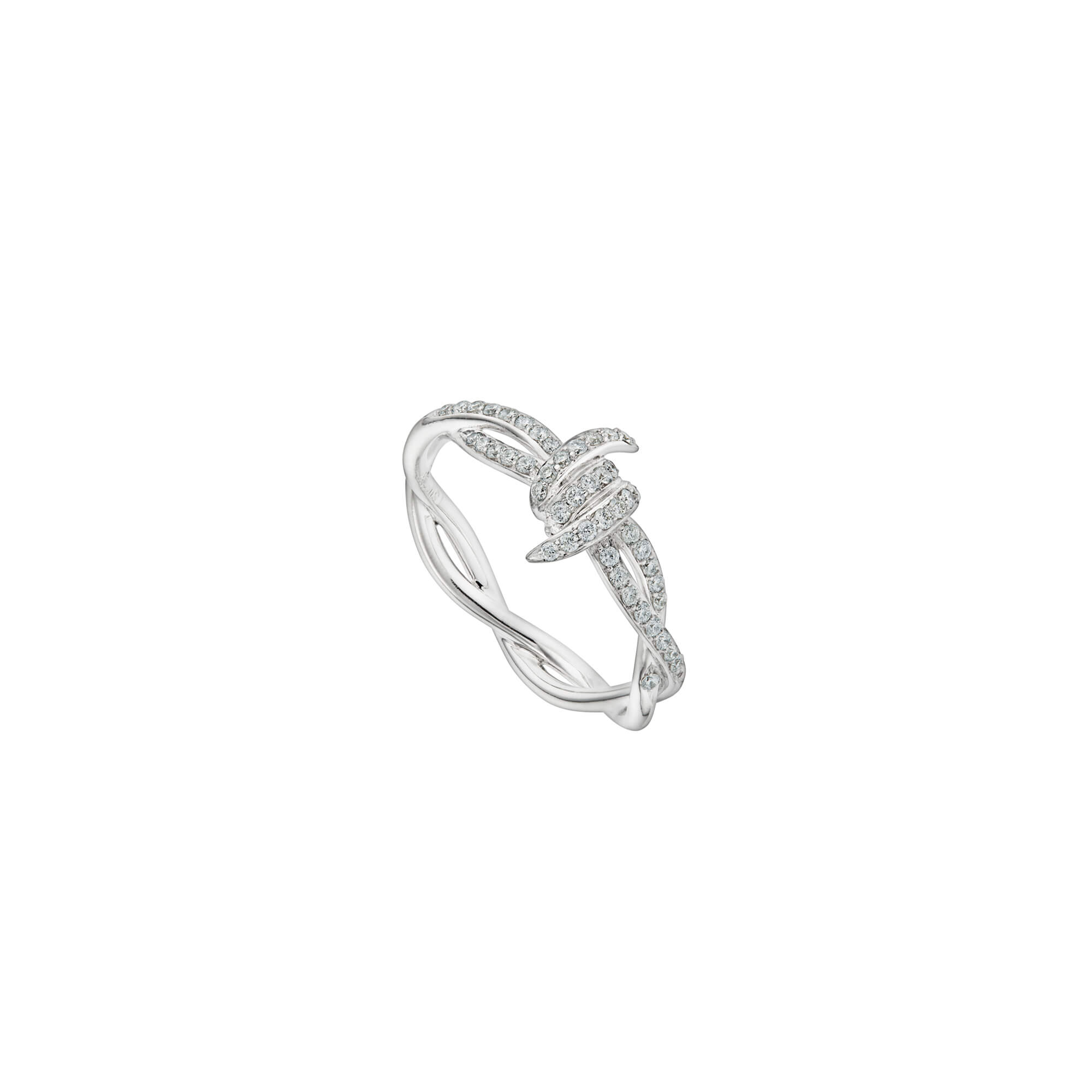 Forget Me Knot White Diamond Ring | Thorn