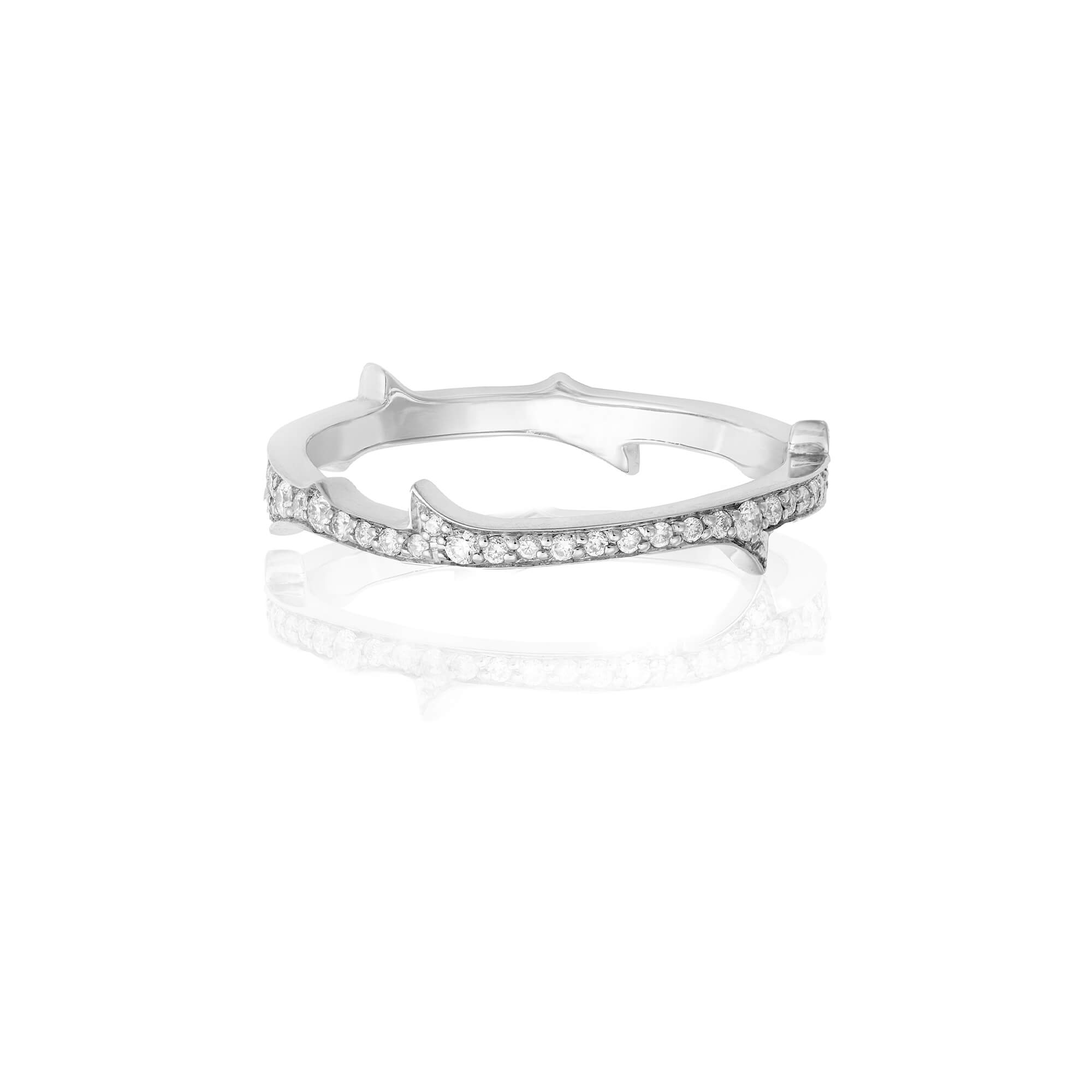 Thorn Diamond and White Gold Stem Ring | No Regrets Chapel
