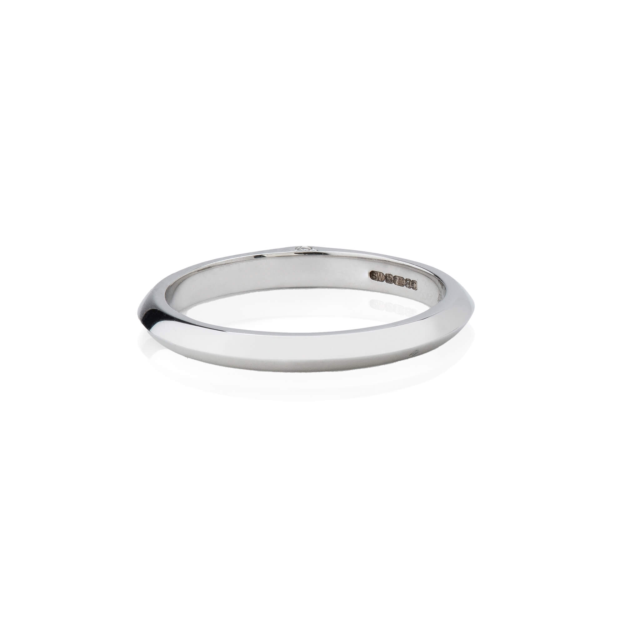 Thorn 18ct White Gold Wedding Band | No Regrets Chapel