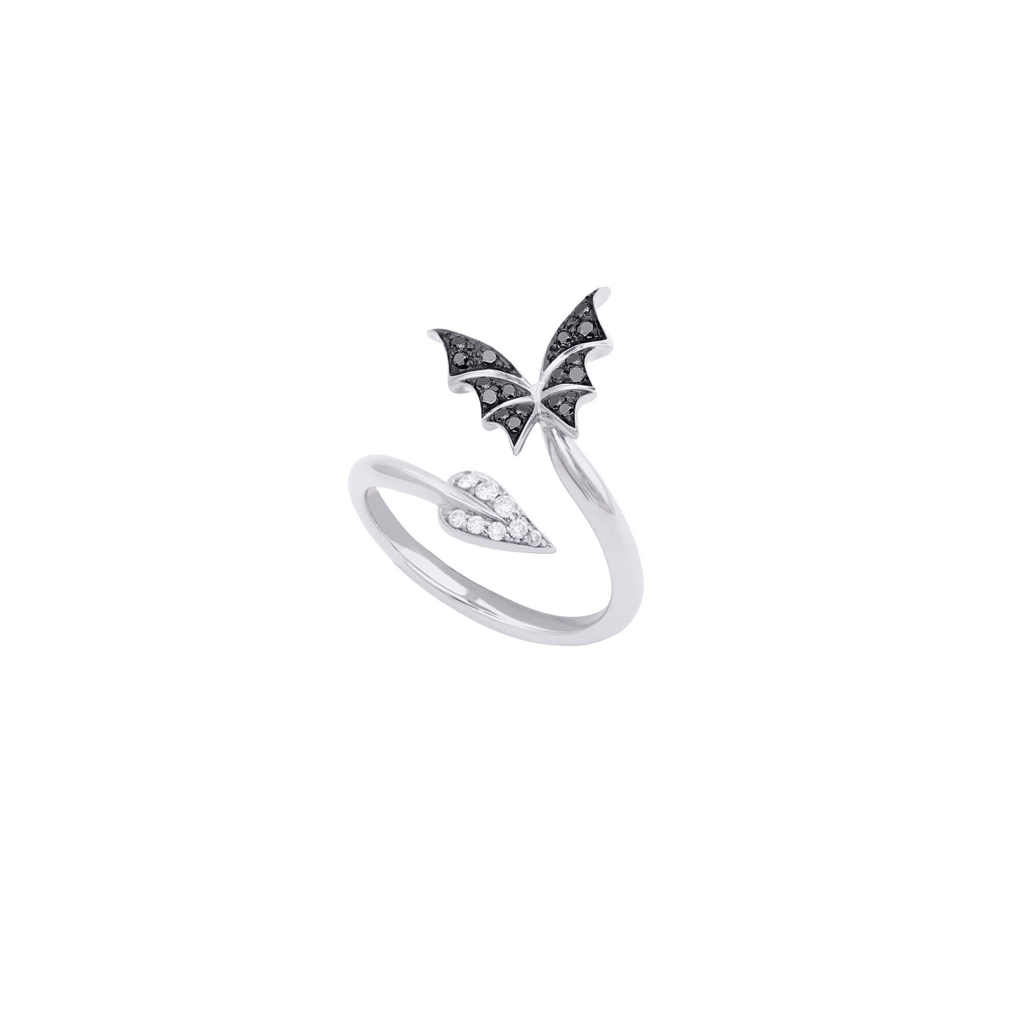 White Gold Pavé Stacking Ring | Fly By Night