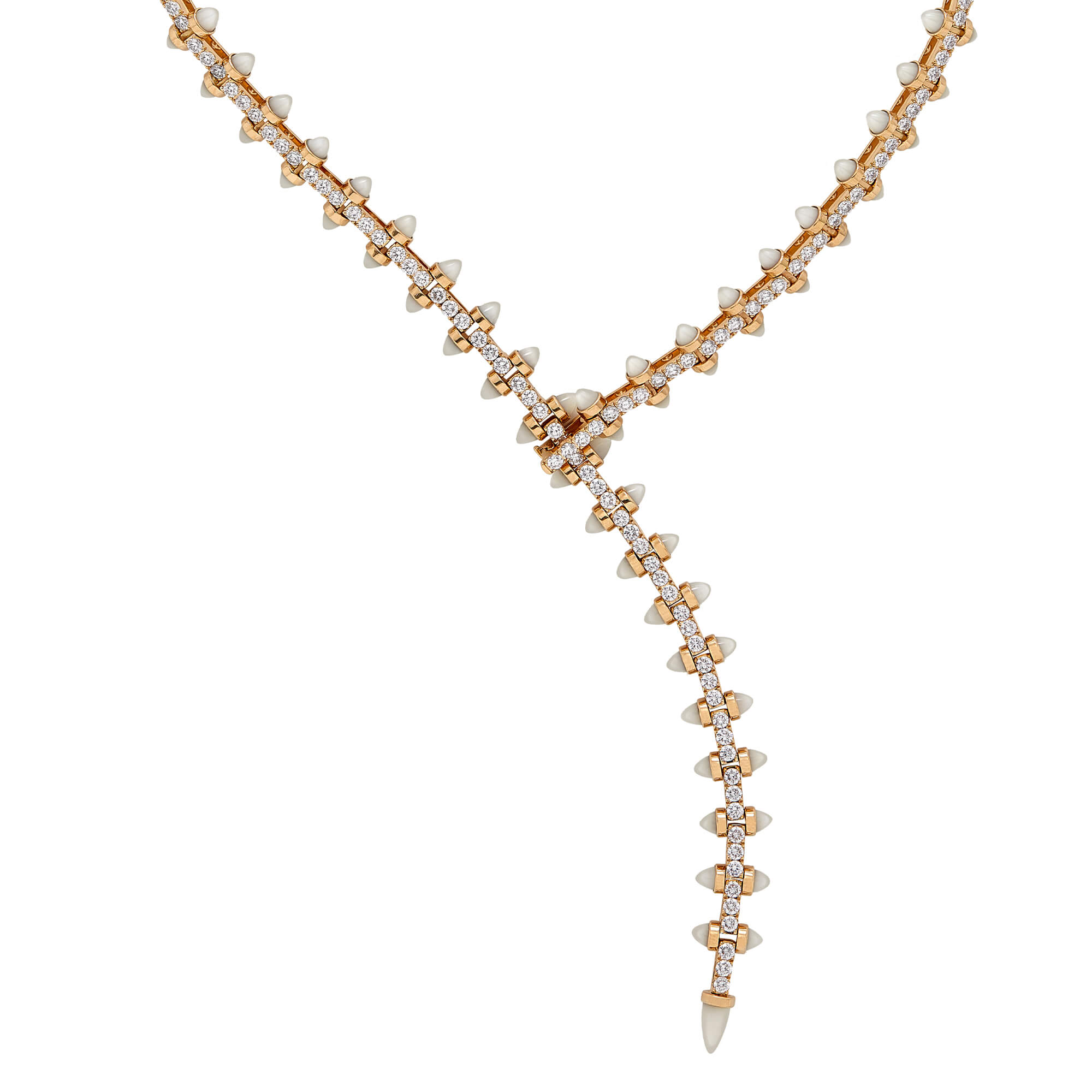 Magazine Diamond and Mother of Pearl Necklace | No Regrets
