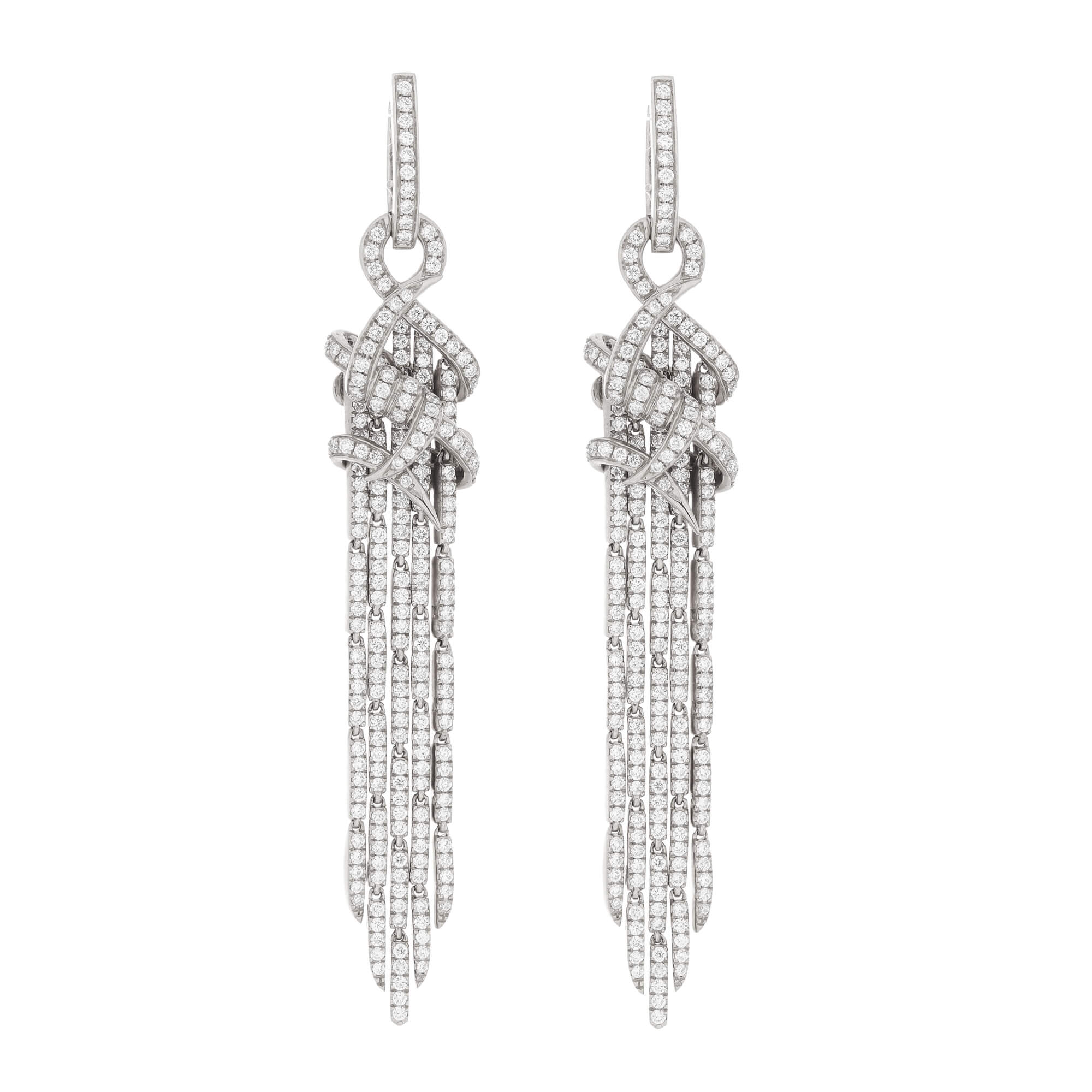Cascade Earrings in White Gold | Deco