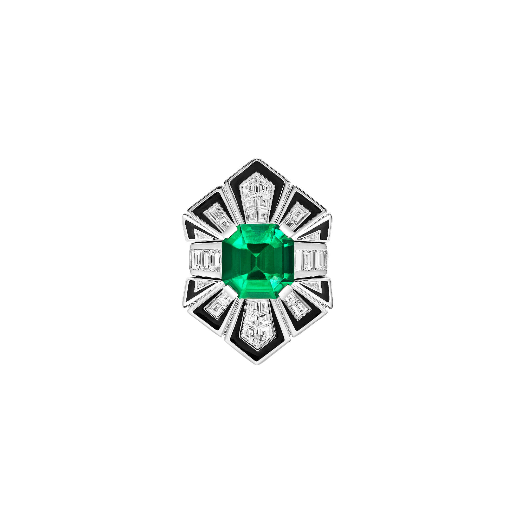 Couture Enamel Emerald Cocktail Ring | Dynamite