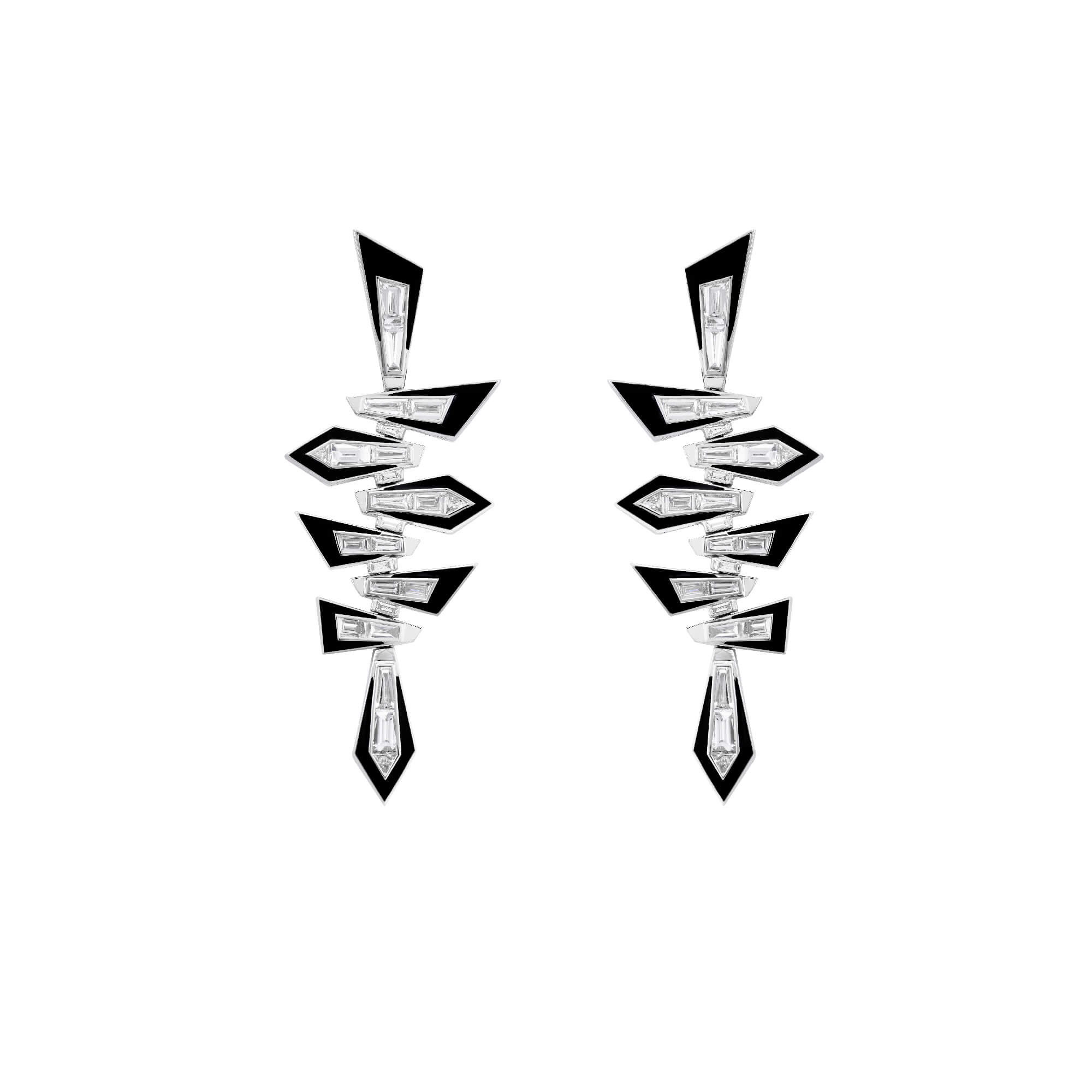 Enamel Shattered Short Earrings | Dynamite