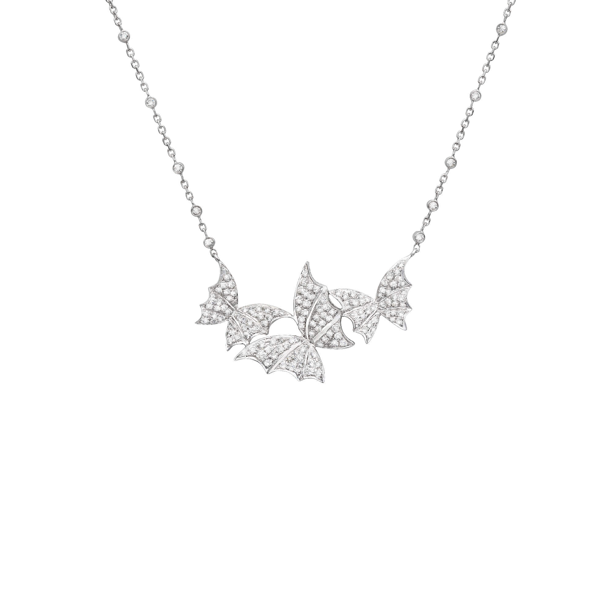 White Gold Pavé Necklace | Fly By Night