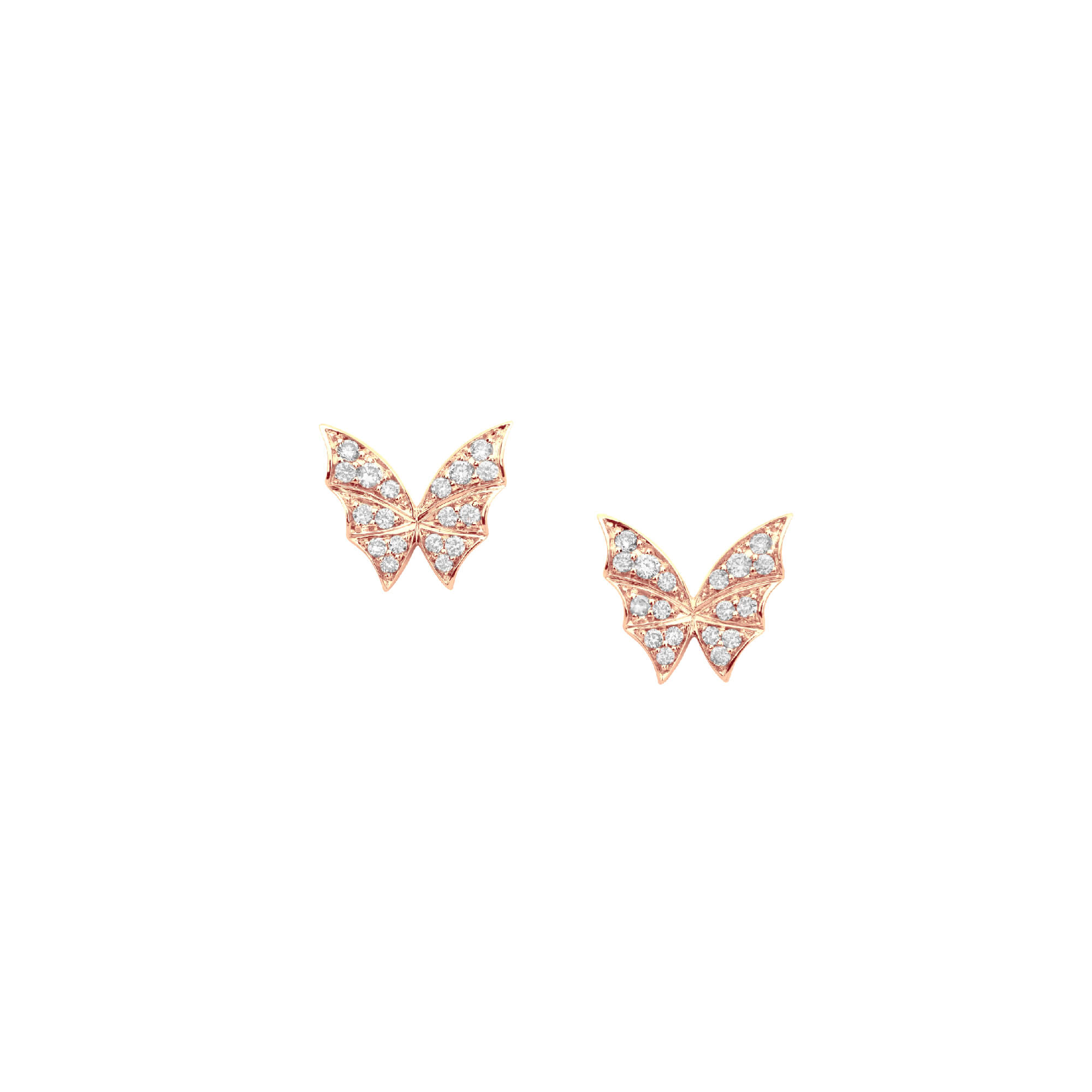Rose Gold Pavé Stud Earrings | Fly By Night
