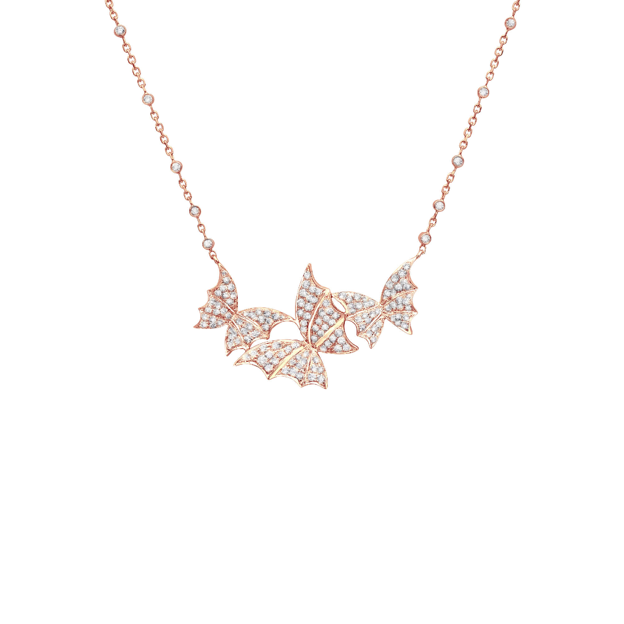 Rose Gold Pavé Necklace | Fly By Night