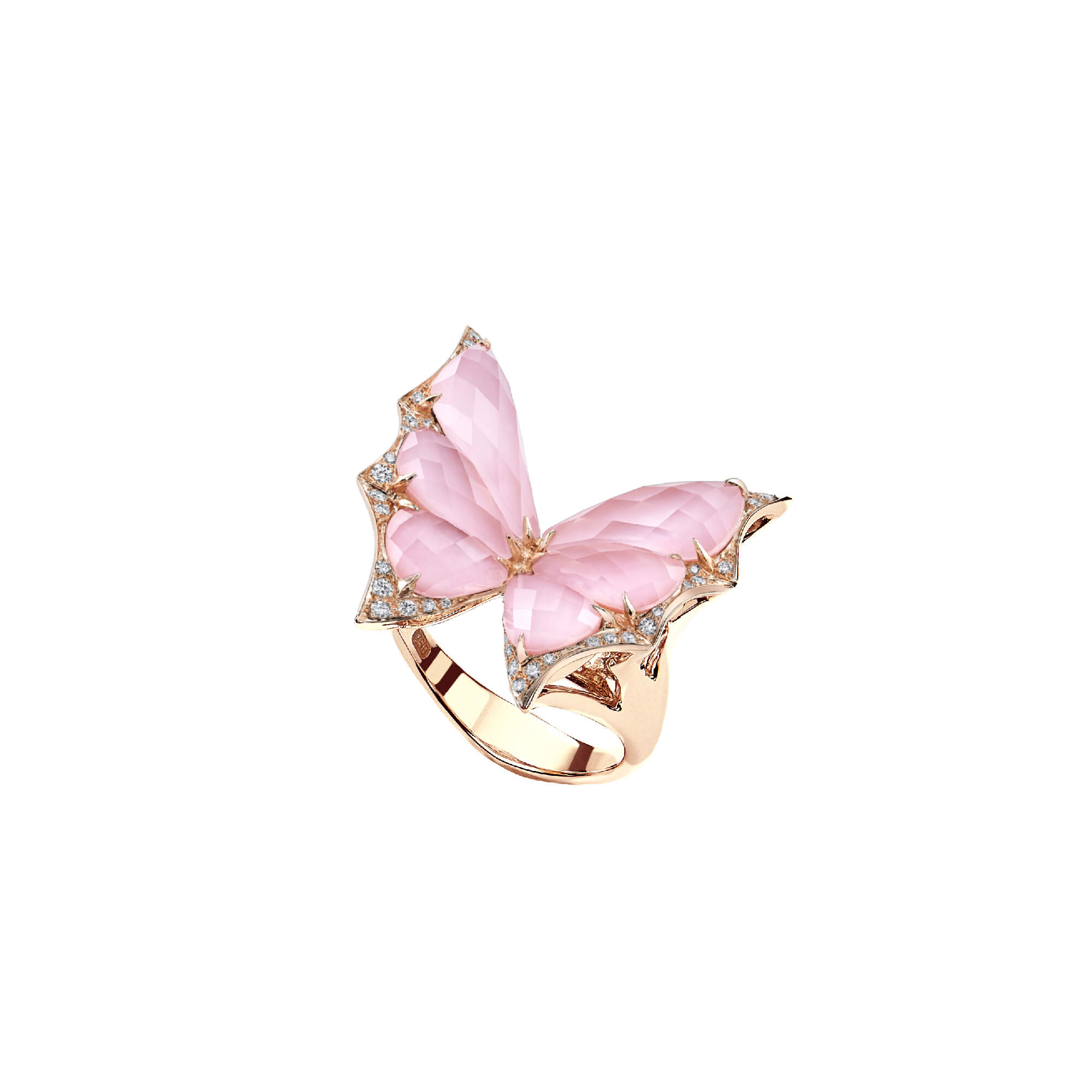 Rose Gold Crystal Haze Small Ring | Fly By Night