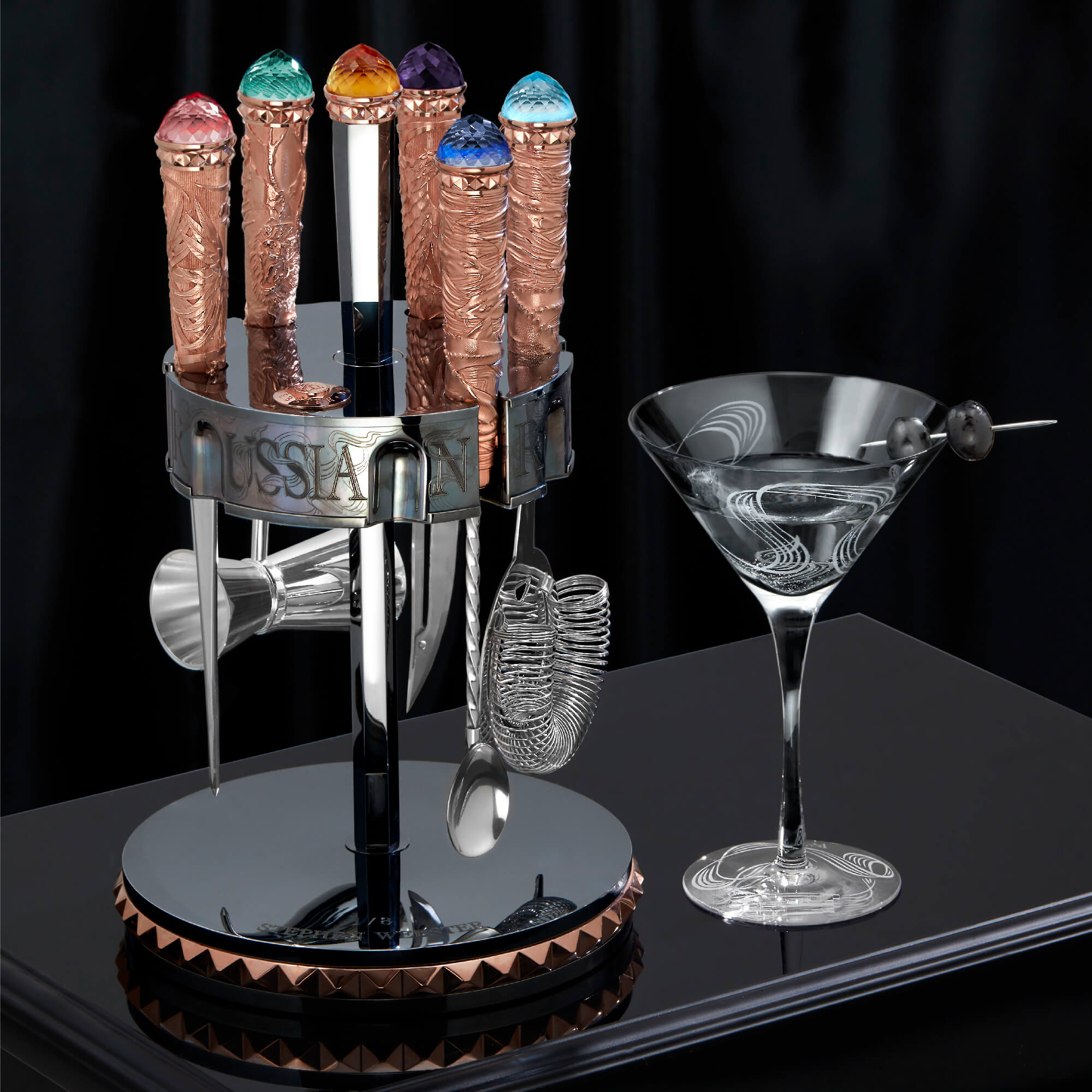 Rose Gold Vodka Bar Tool Kit | Russian Roulette