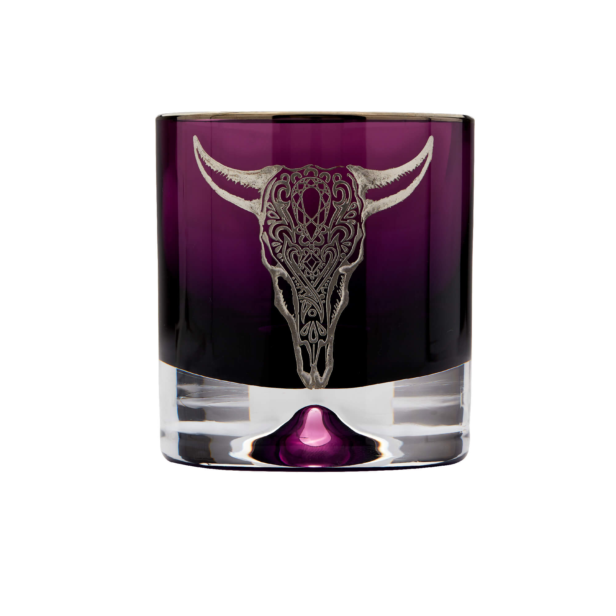 Amethyst Tumbler with Engraved Cow | Stephen Webster