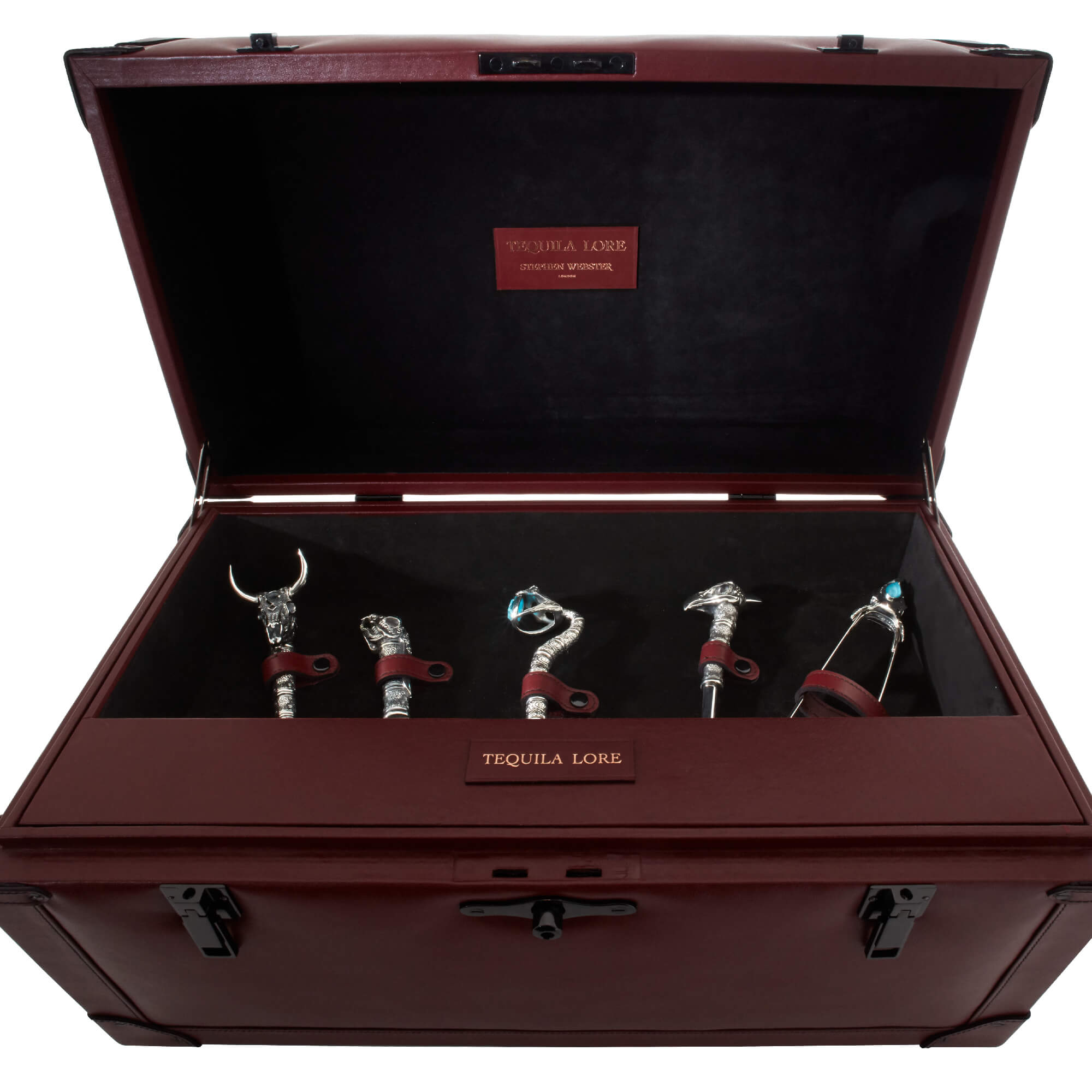 Full Silver Tequila Tool Set with Glasses | Stephen Webster