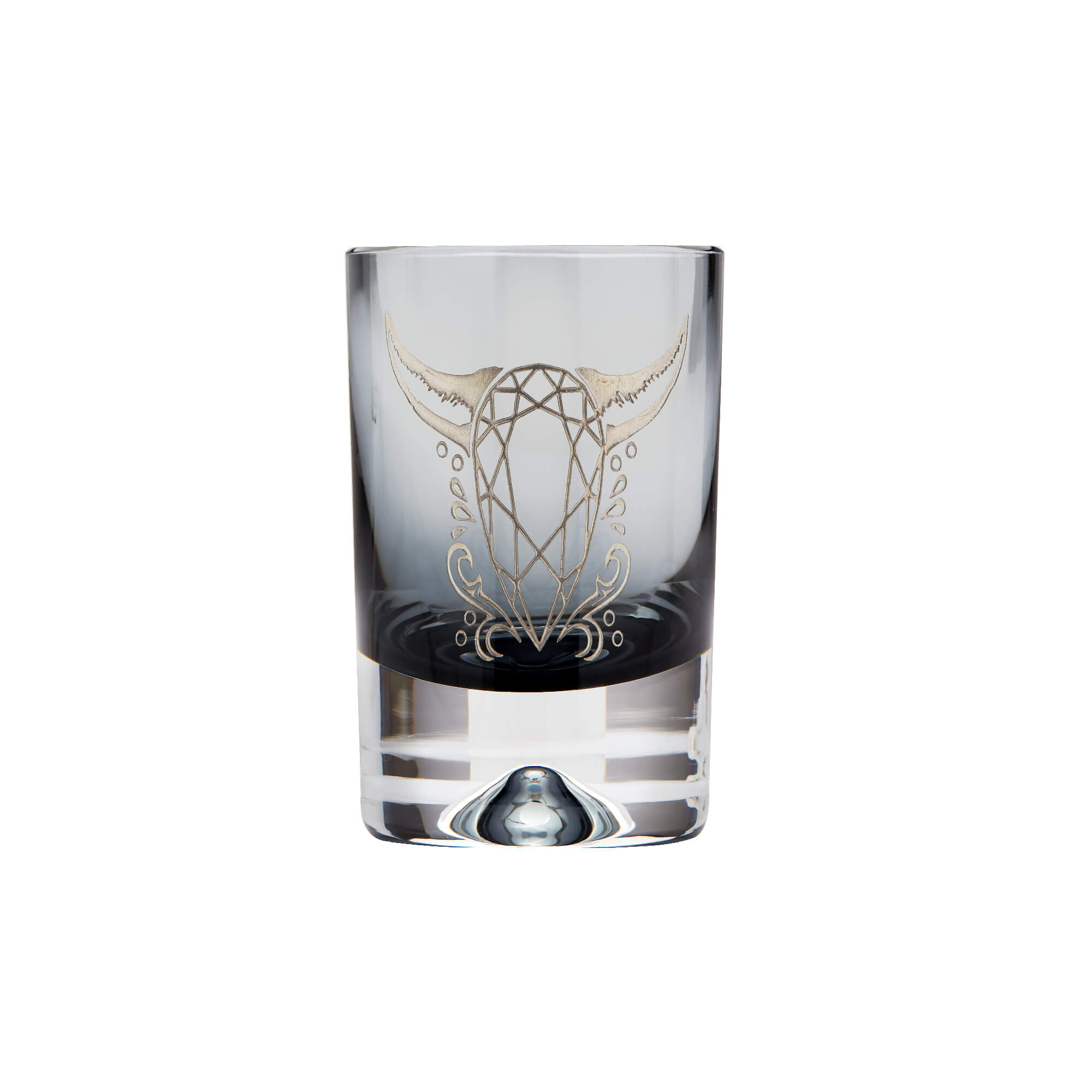 Smoke Shot Glass with Engraved Cow | Stephen Webster
